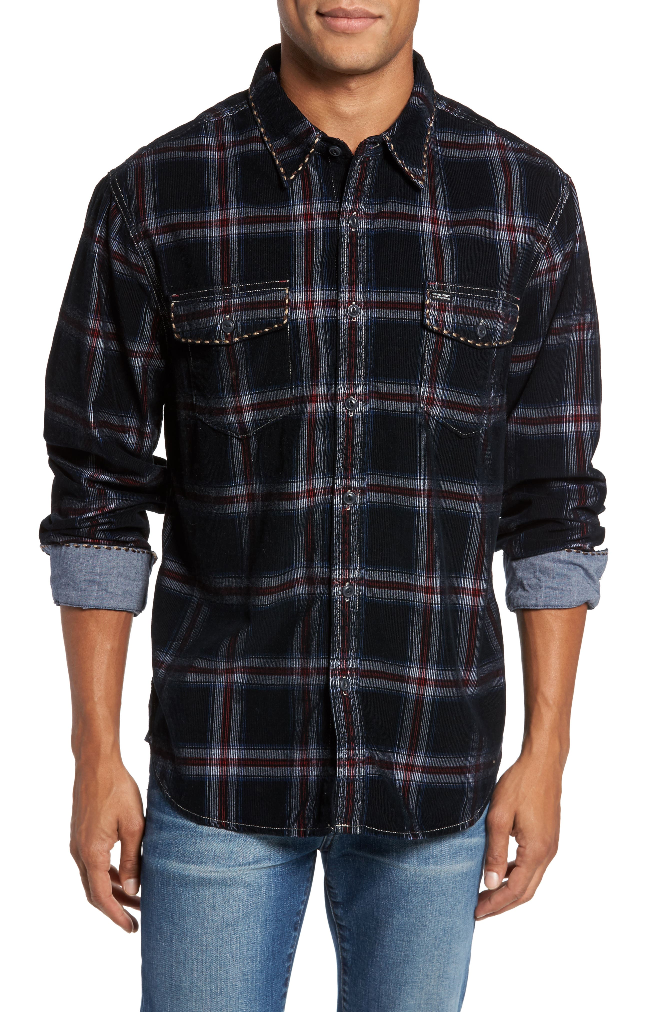 Summit Hunter Plaid Faux Shearling Lined Shirt Jacket,                         Main,                         color, 001