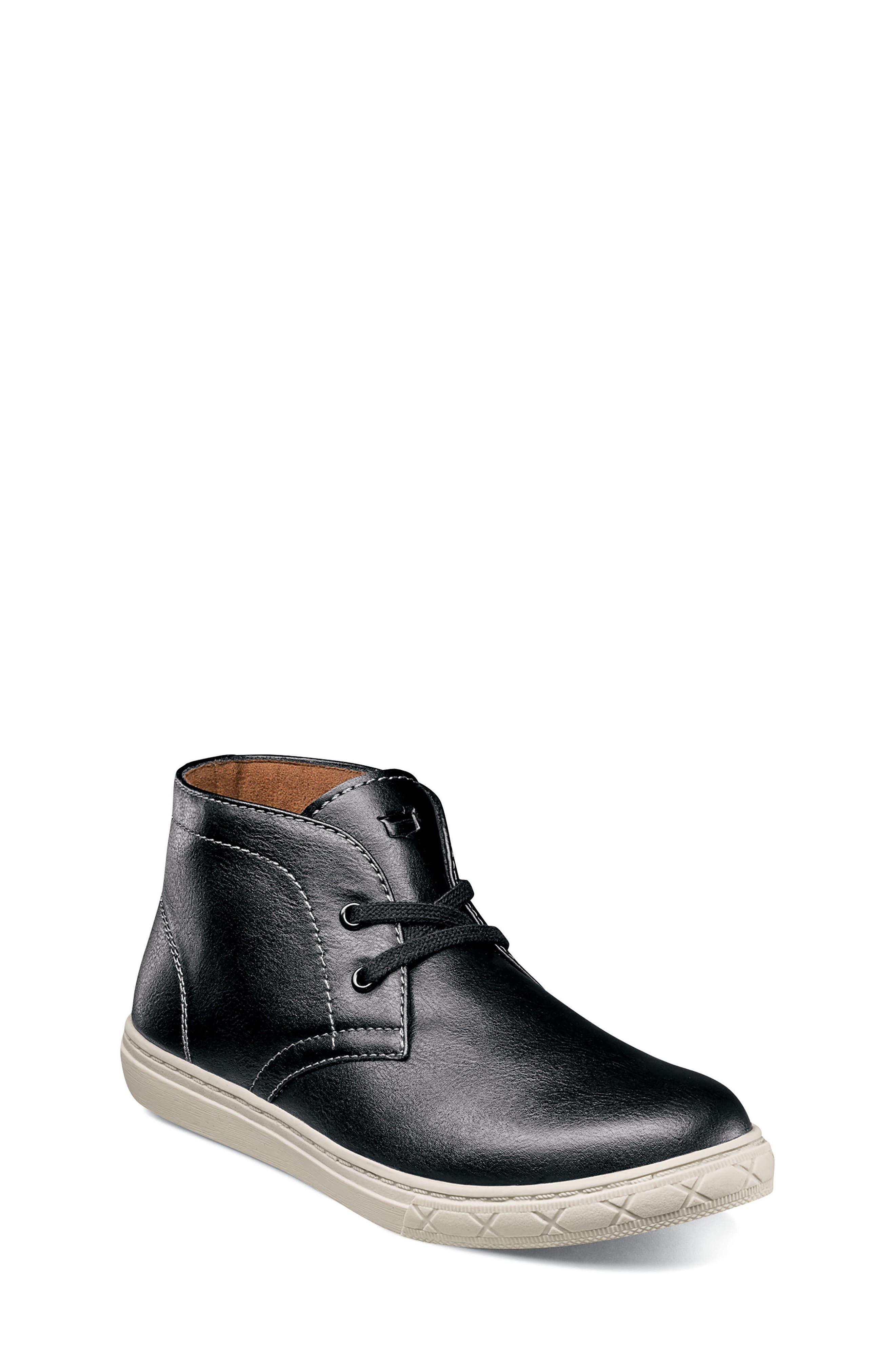 Curb Chukka Sneaker Boot,                             Main thumbnail 1, color,                             BLACK