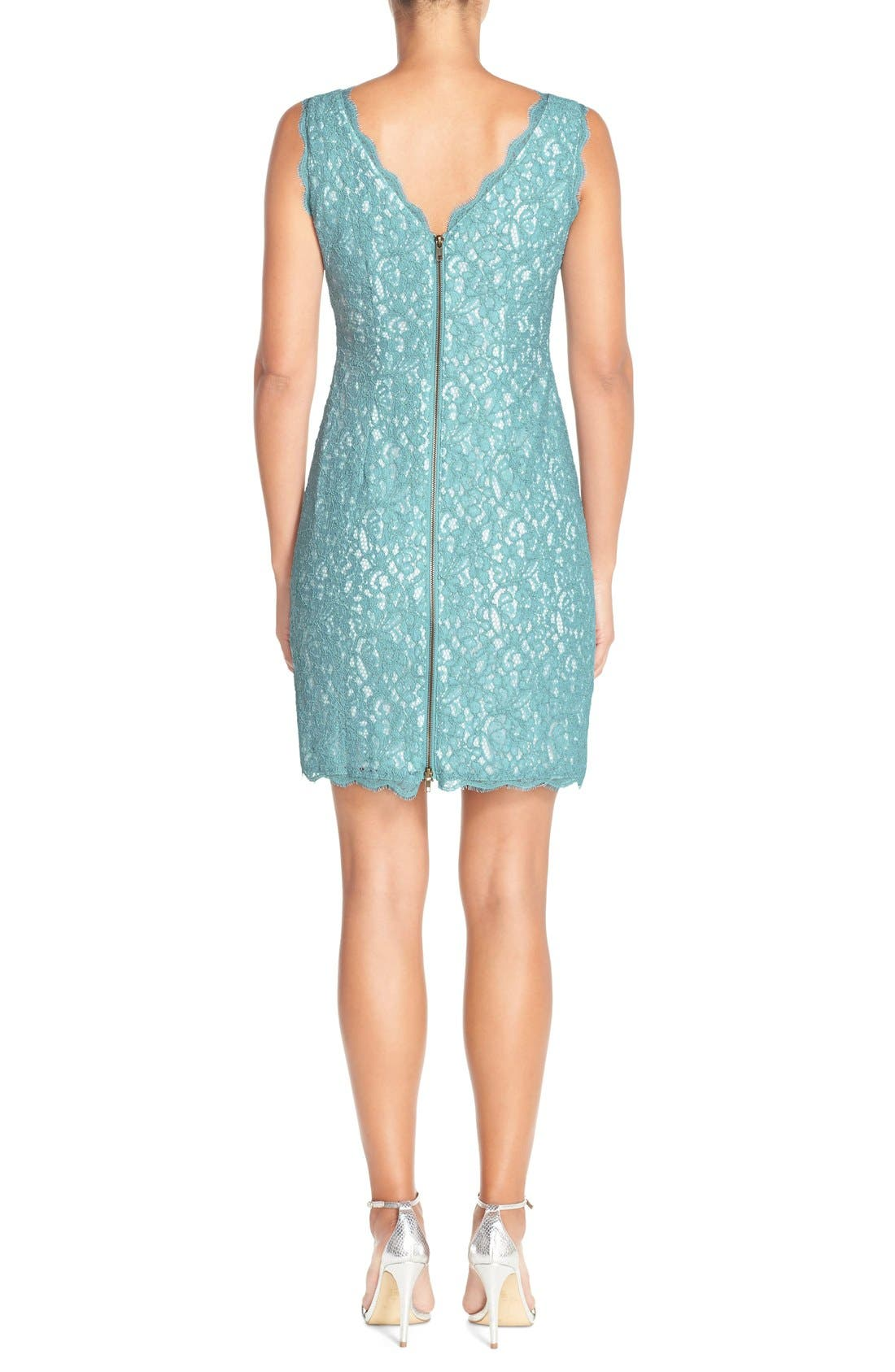 Boatneck Lace Sheath Dress,                             Alternate thumbnail 49, color,