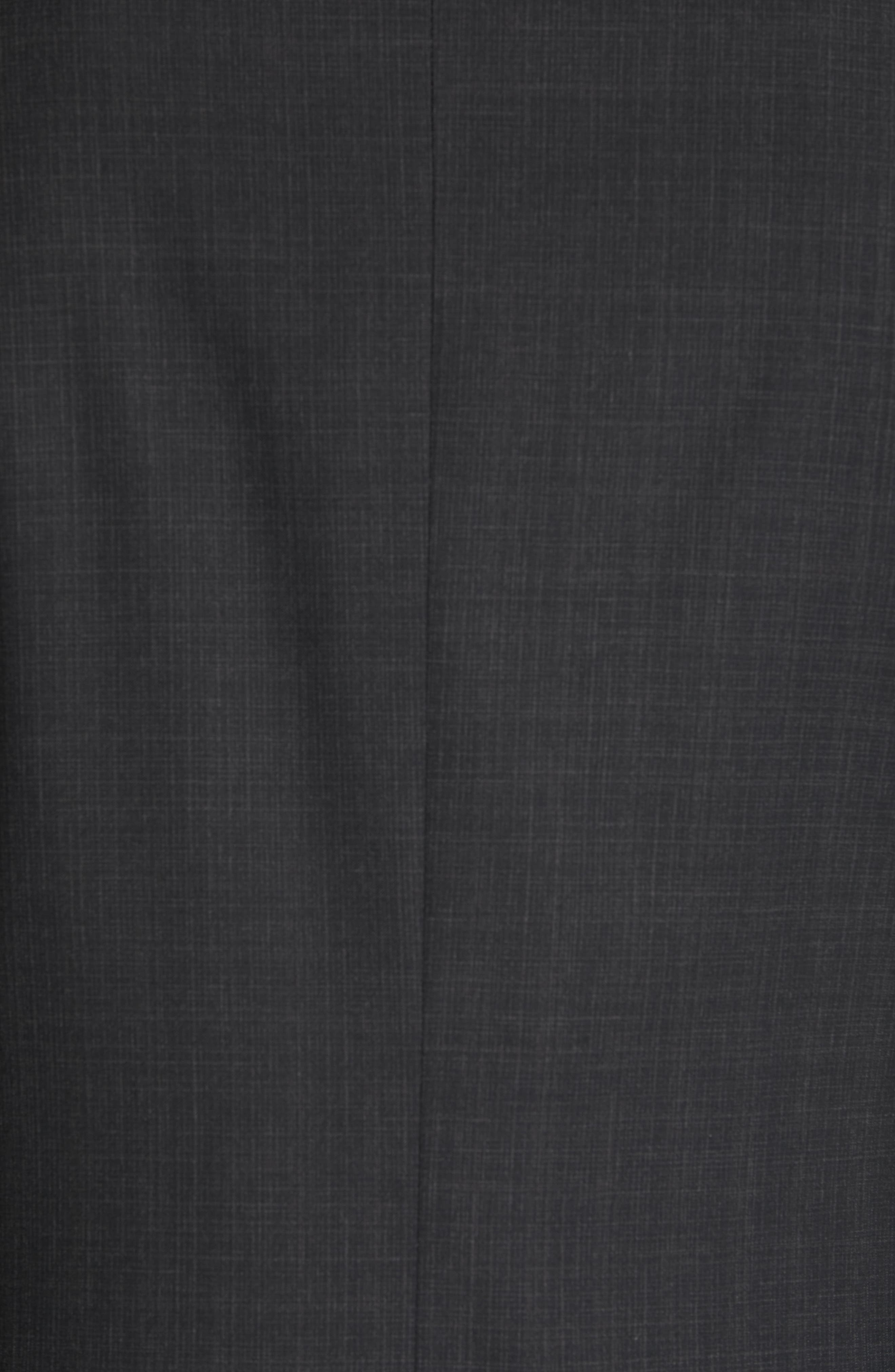 Siena Classic Fit Solid Super 130s Wool Suit,                             Alternate thumbnail 7, color,                             BLACK