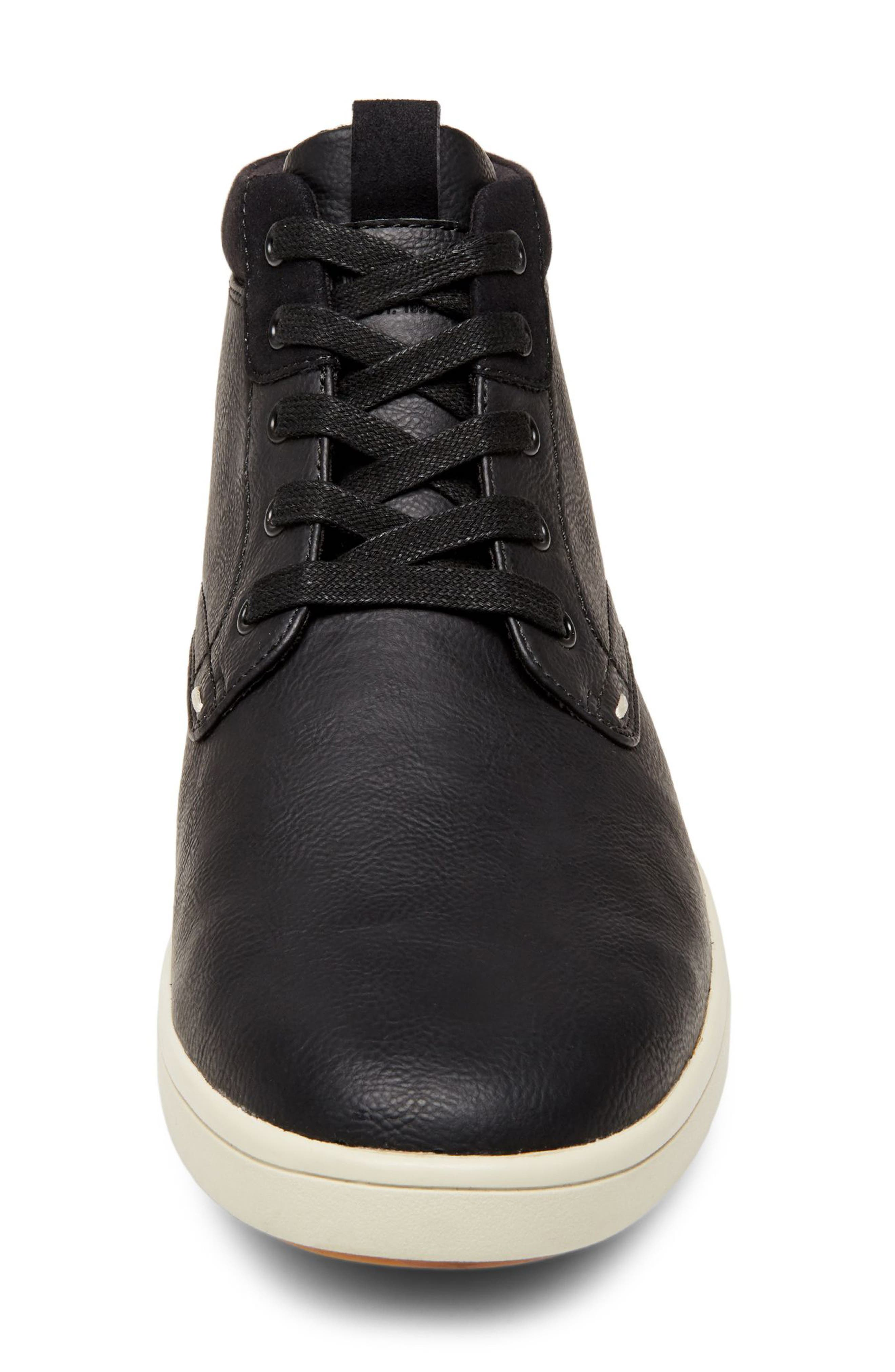 Forsyth High Top Sneaker,                             Alternate thumbnail 4, color,                             BLACK LEATHER