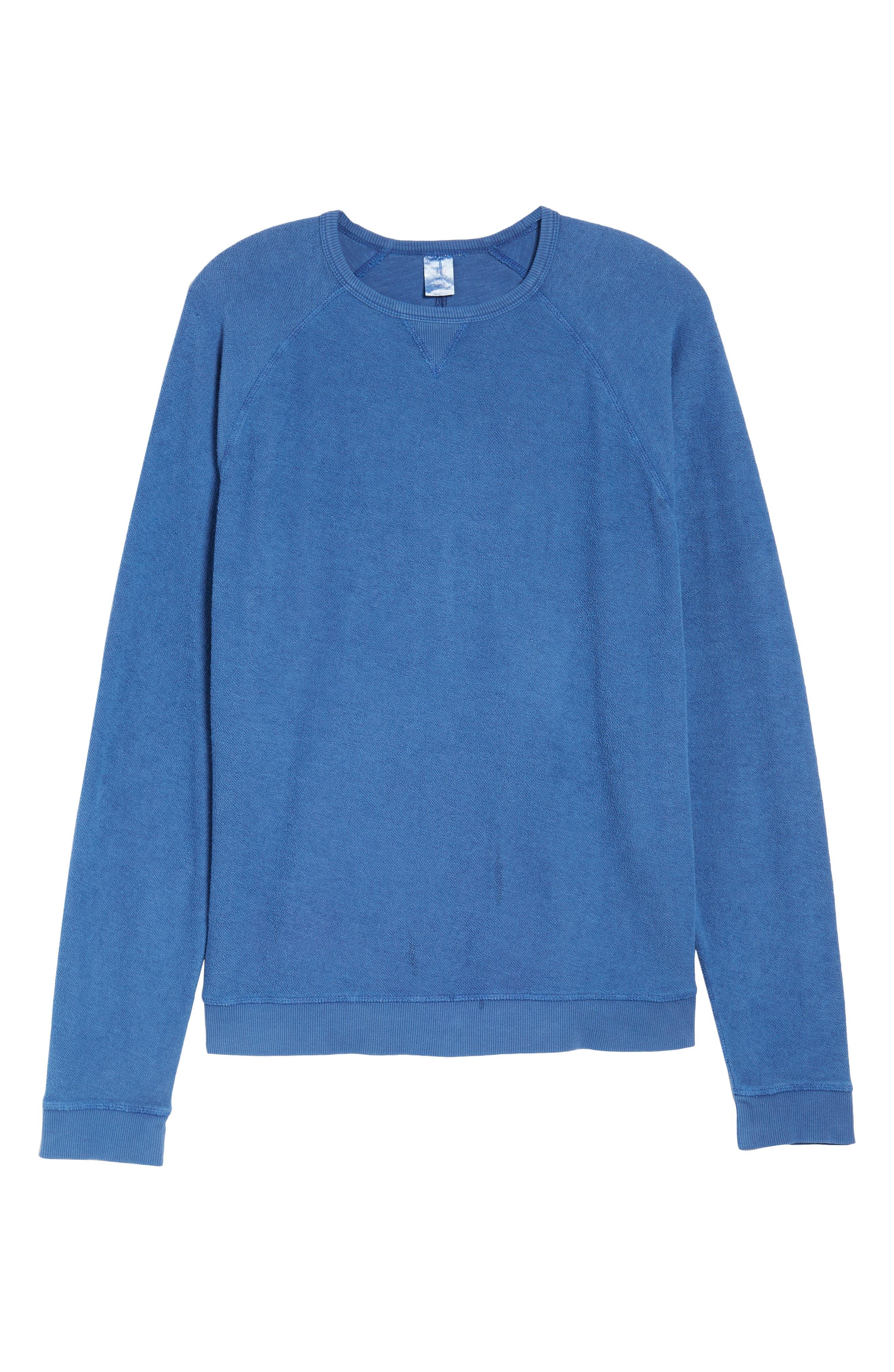 Mason Regular Fit Sweatshirt,                             Alternate thumbnail 6, color,                             TIDE