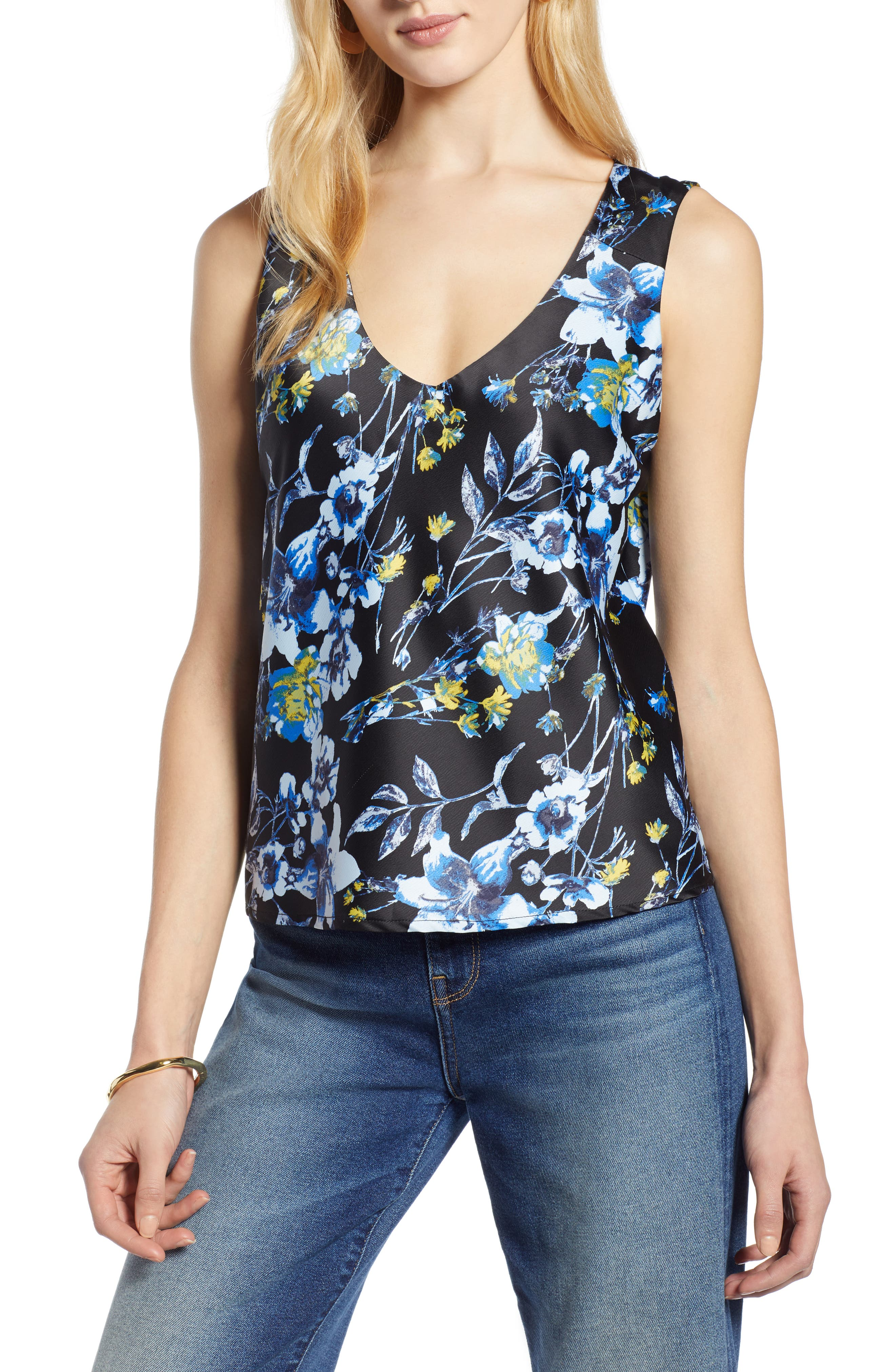 HALOGEN<SUP>®</SUP> Sleeveless Top, Main, color, 002