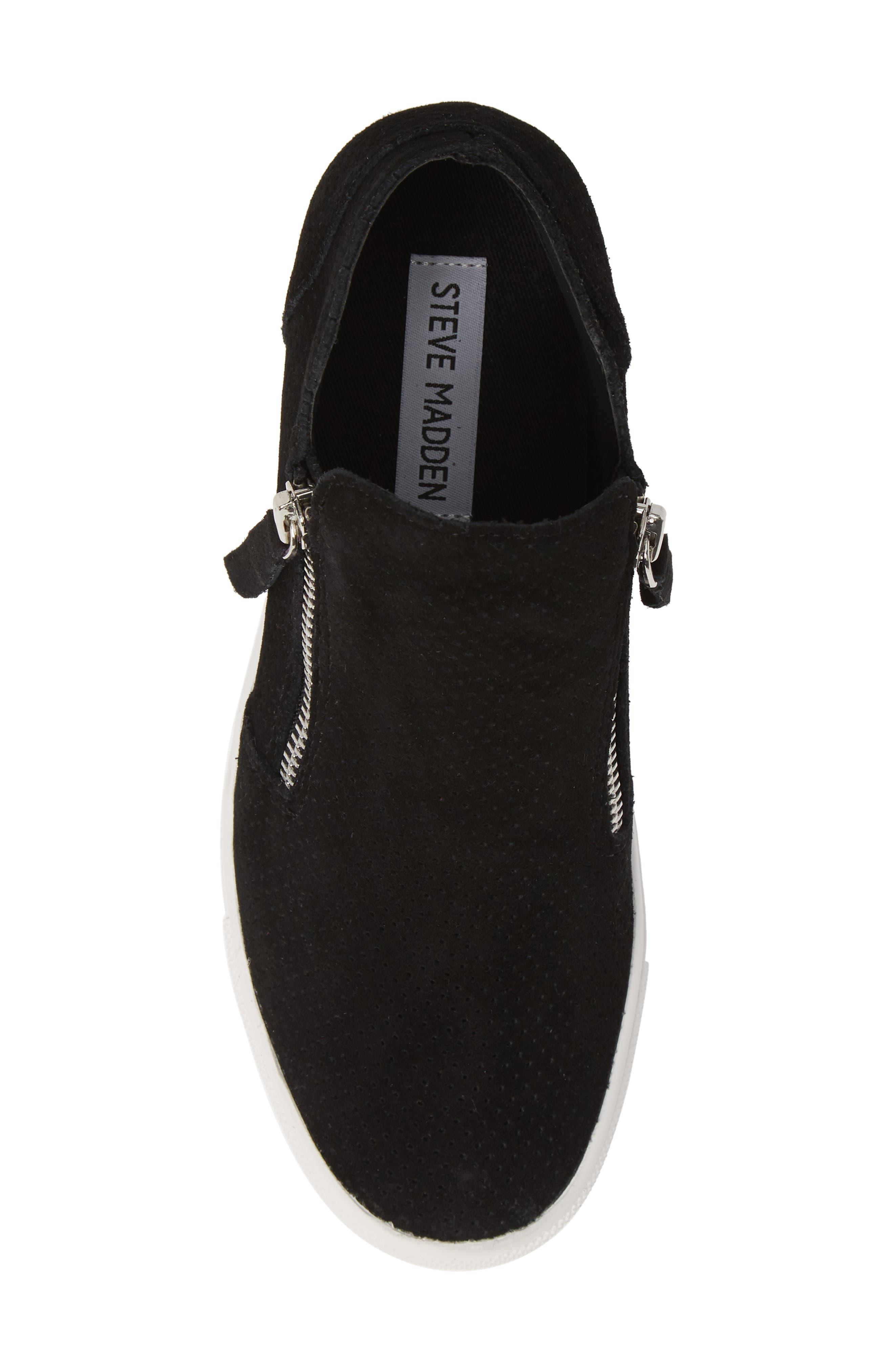 STEVE MADDEN,                             Caliber High Top Sneaker,                             Alternate thumbnail 5, color,                             BLACK SUEDE