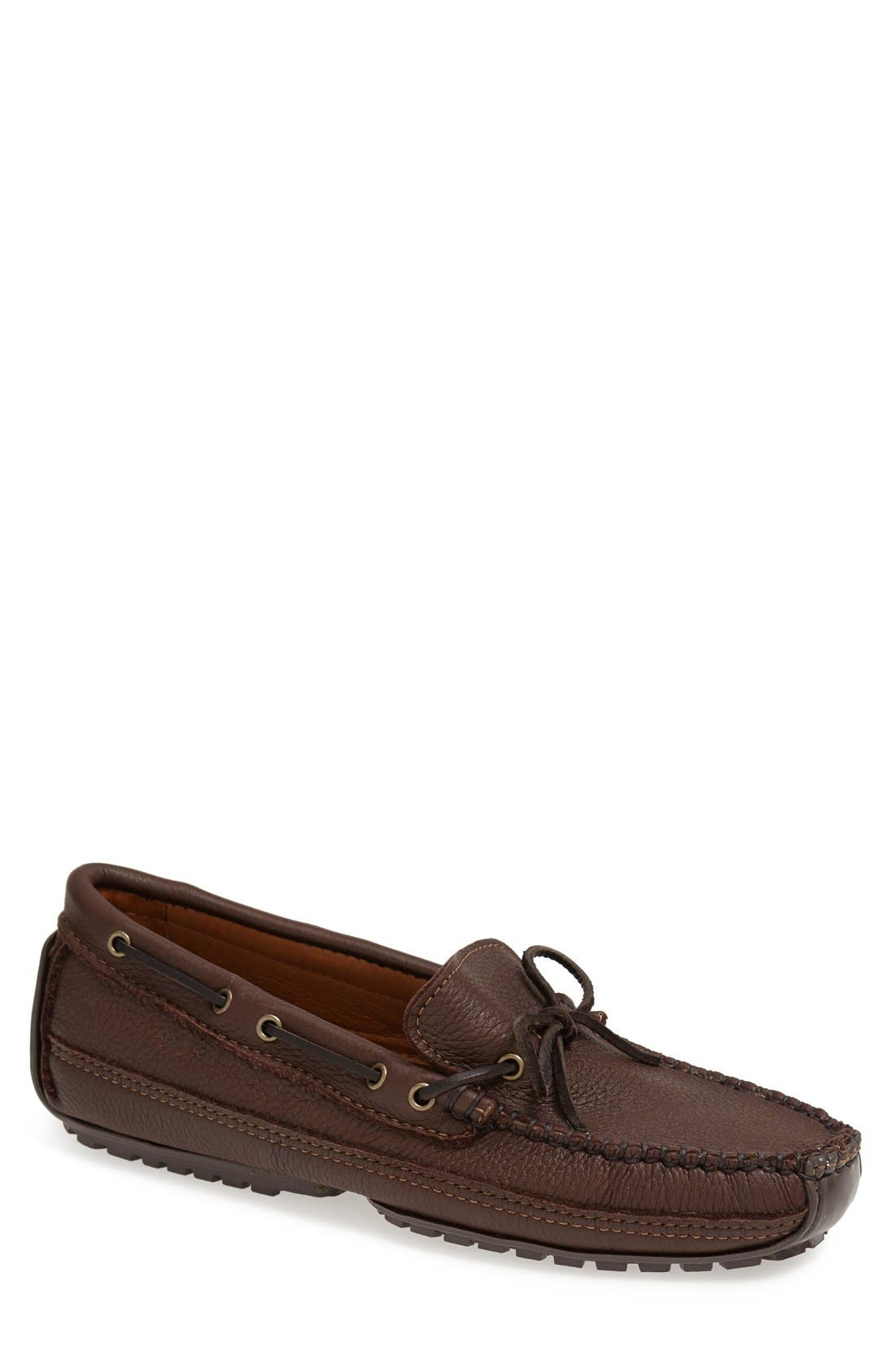 Moosehide Moccasin,                             Main thumbnail 1, color,                             CHOCOLATE