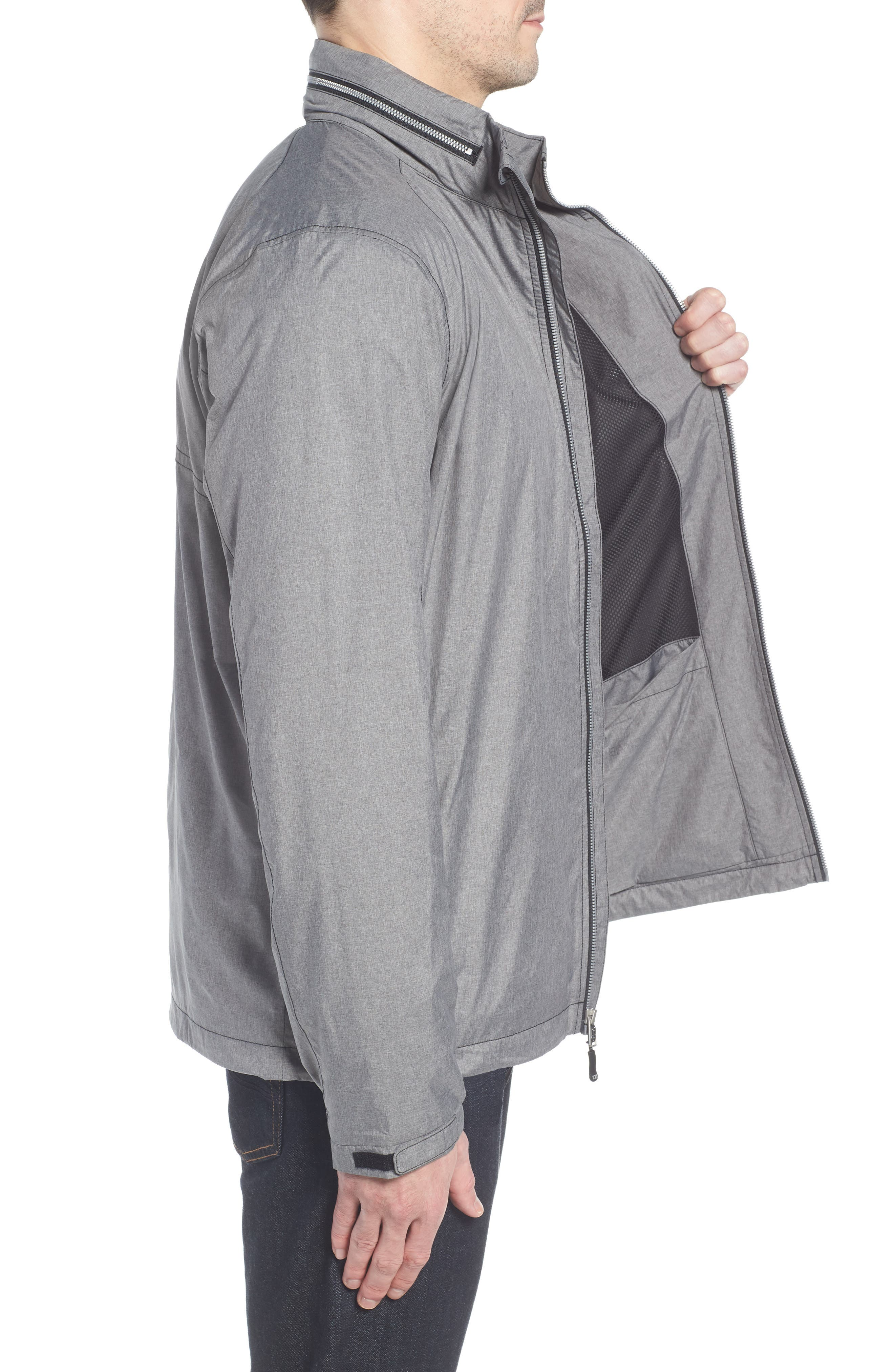 Panoramic Packable Jacket,                             Alternate thumbnail 3, color,                             BLACK