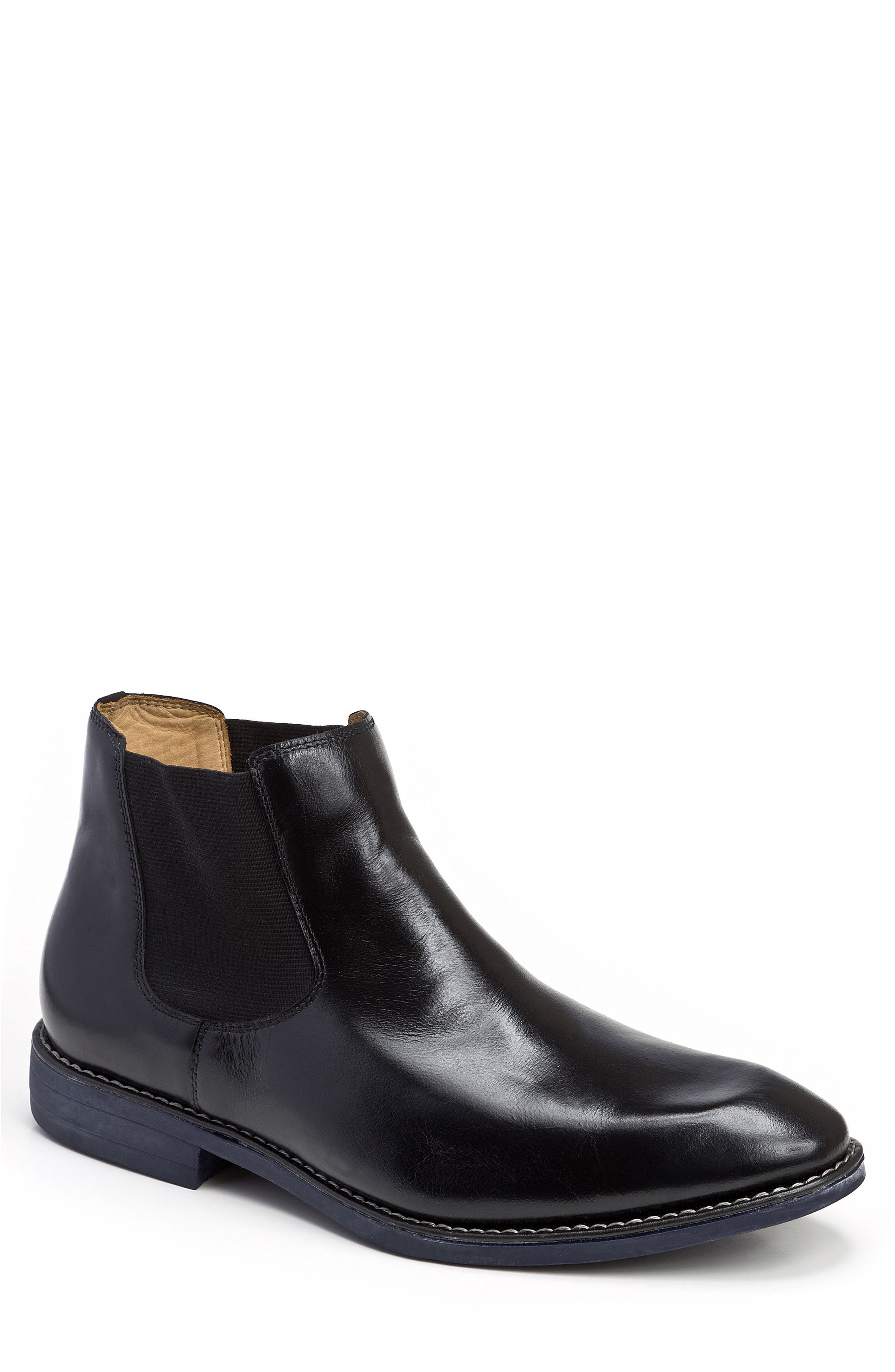 Marcus Chelsea Boot,                         Main,                         color, BLACK LEATHER