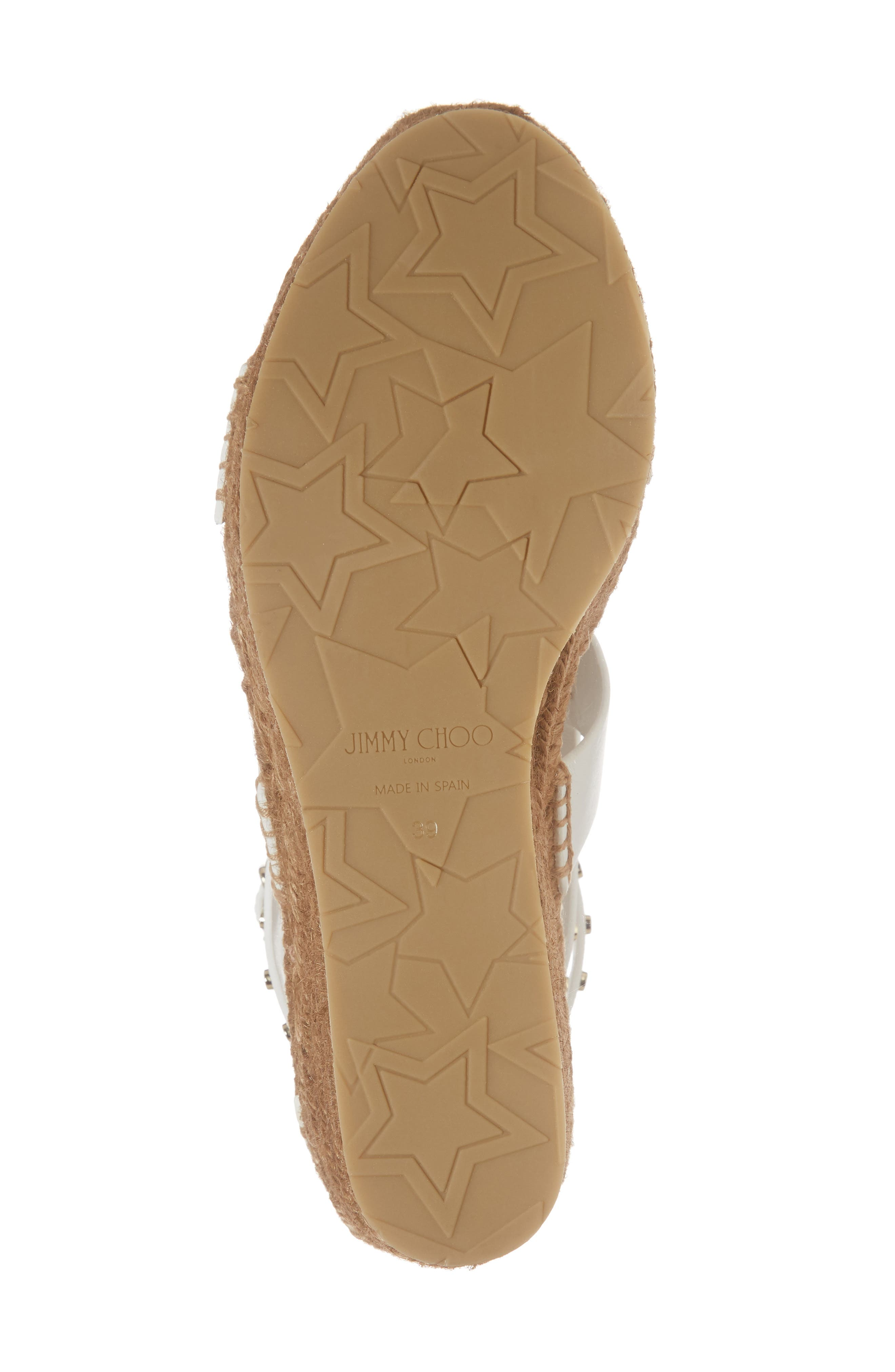 Danica Studded Wedge Espadrille,                             Alternate thumbnail 6, color,                             WHITE