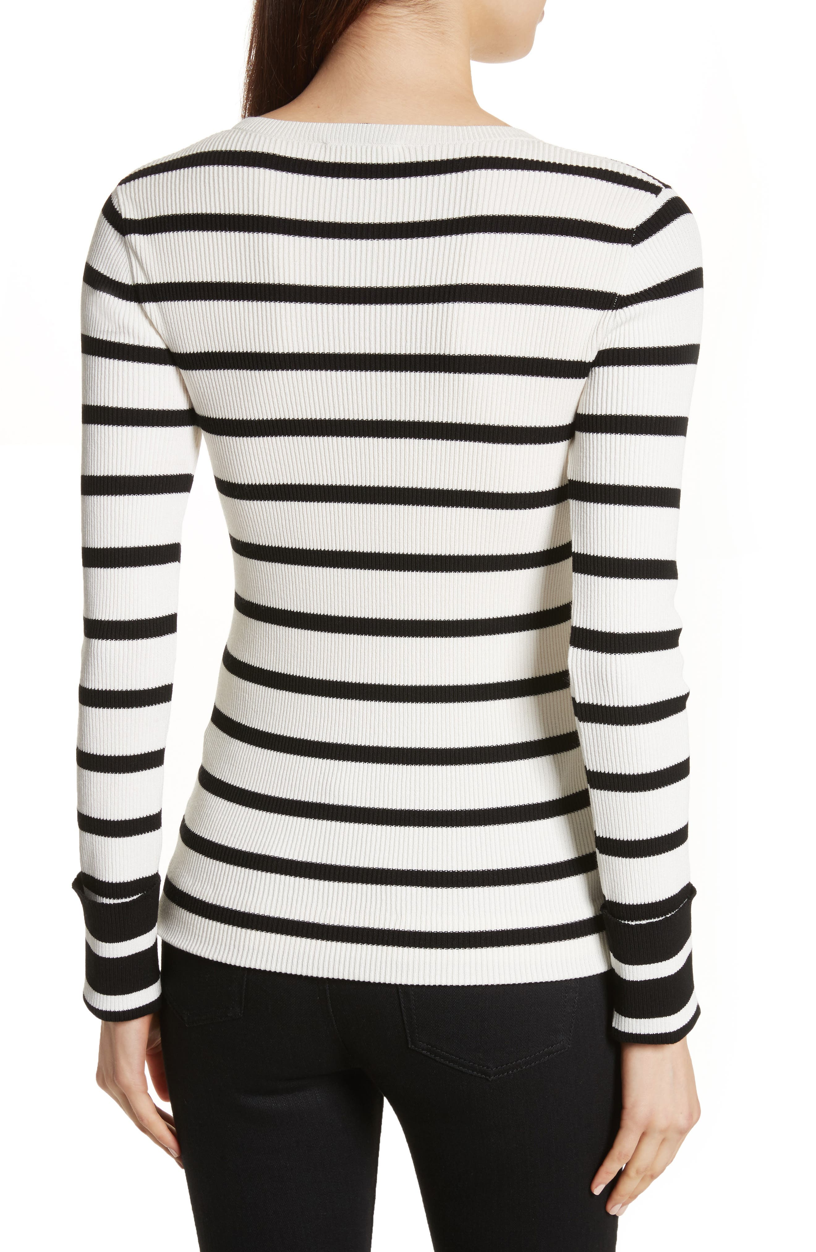 Stripe Rib Crewneck Pullover,                             Alternate thumbnail 2, color,                             907