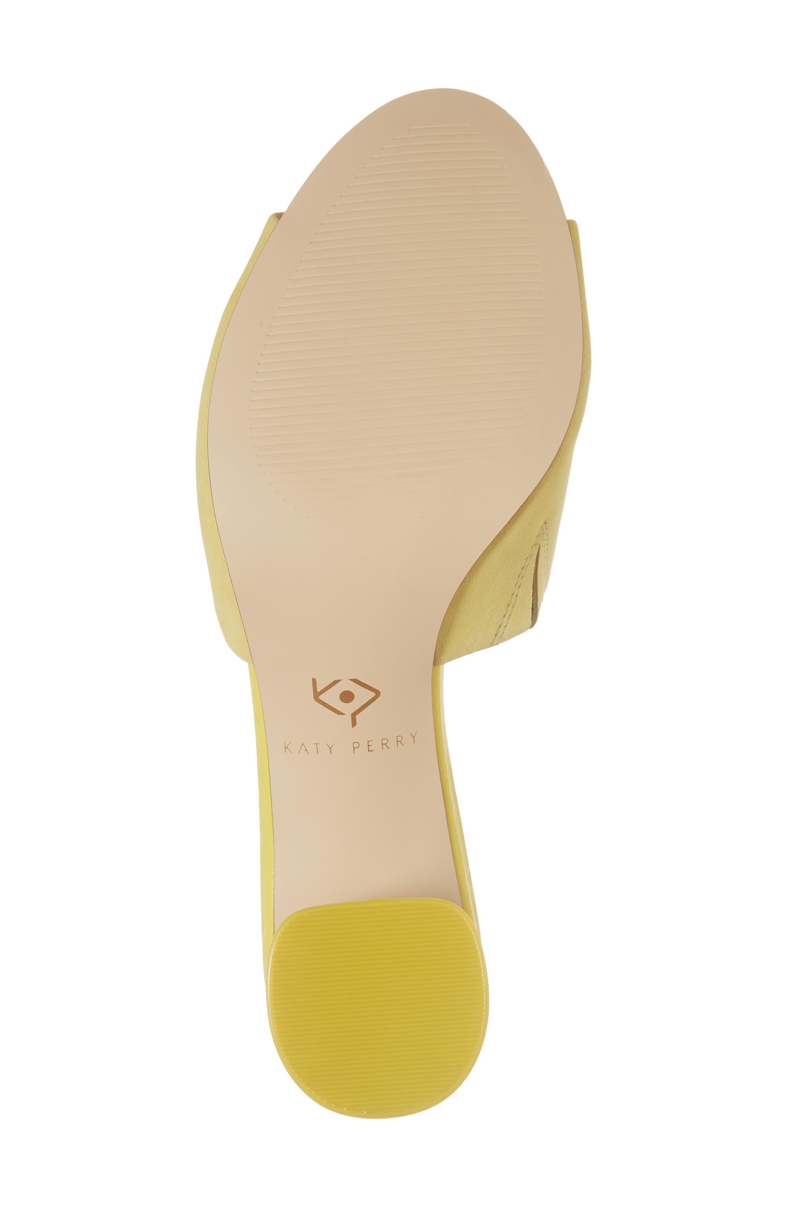 The Kaitlynn Slide Sandal,                             Alternate thumbnail 6, color,                             YELLOW SUEDE