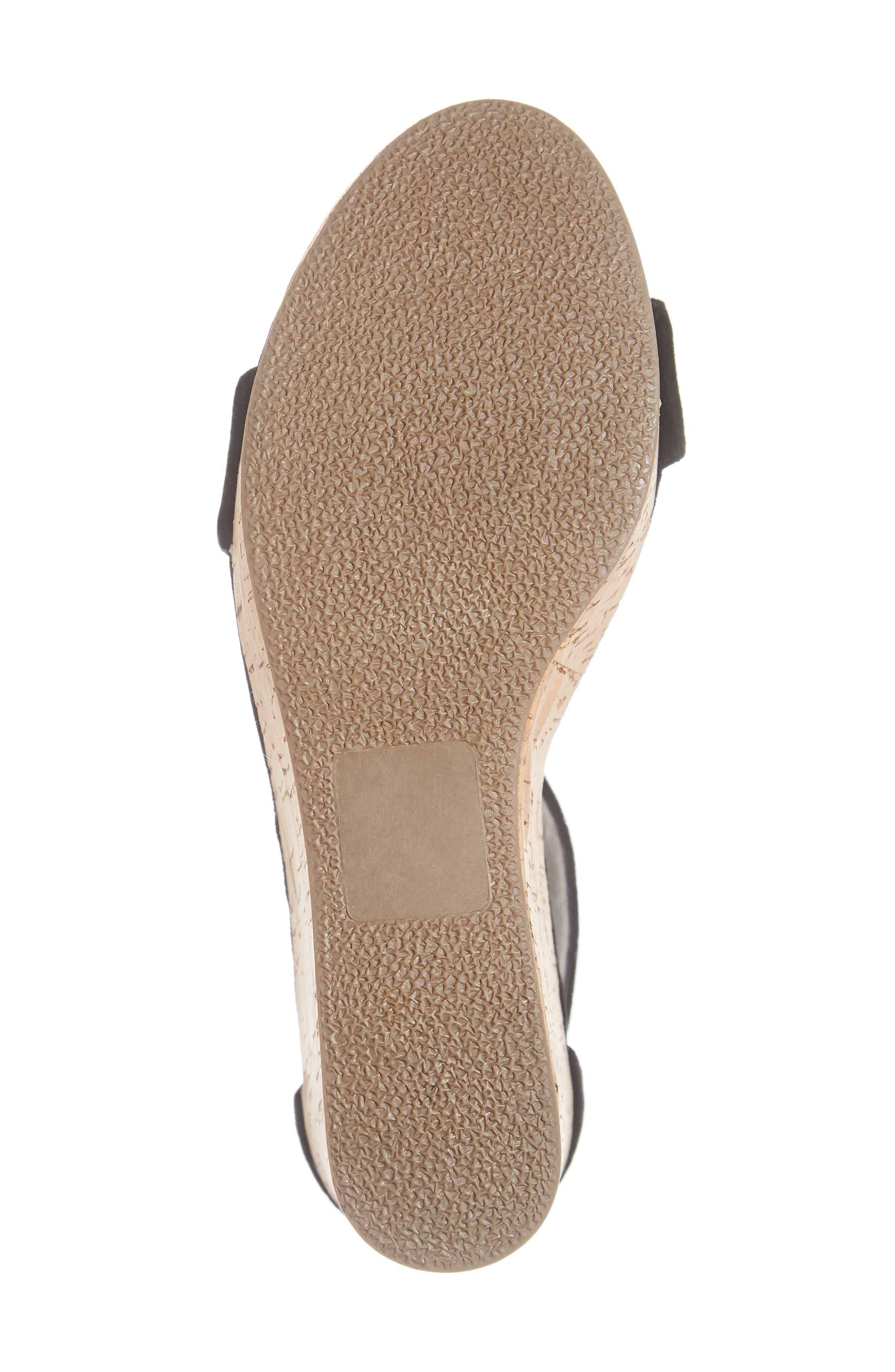 Visible Sandal,                             Alternate thumbnail 6, color,                             BLACK SUEDE