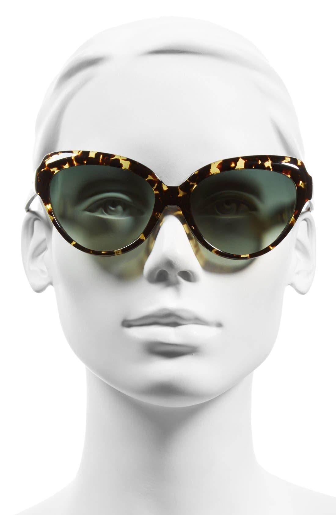 'Hayworth' 57mm Cat Eye Sunglasses,                             Alternate thumbnail 2, color,                             200
