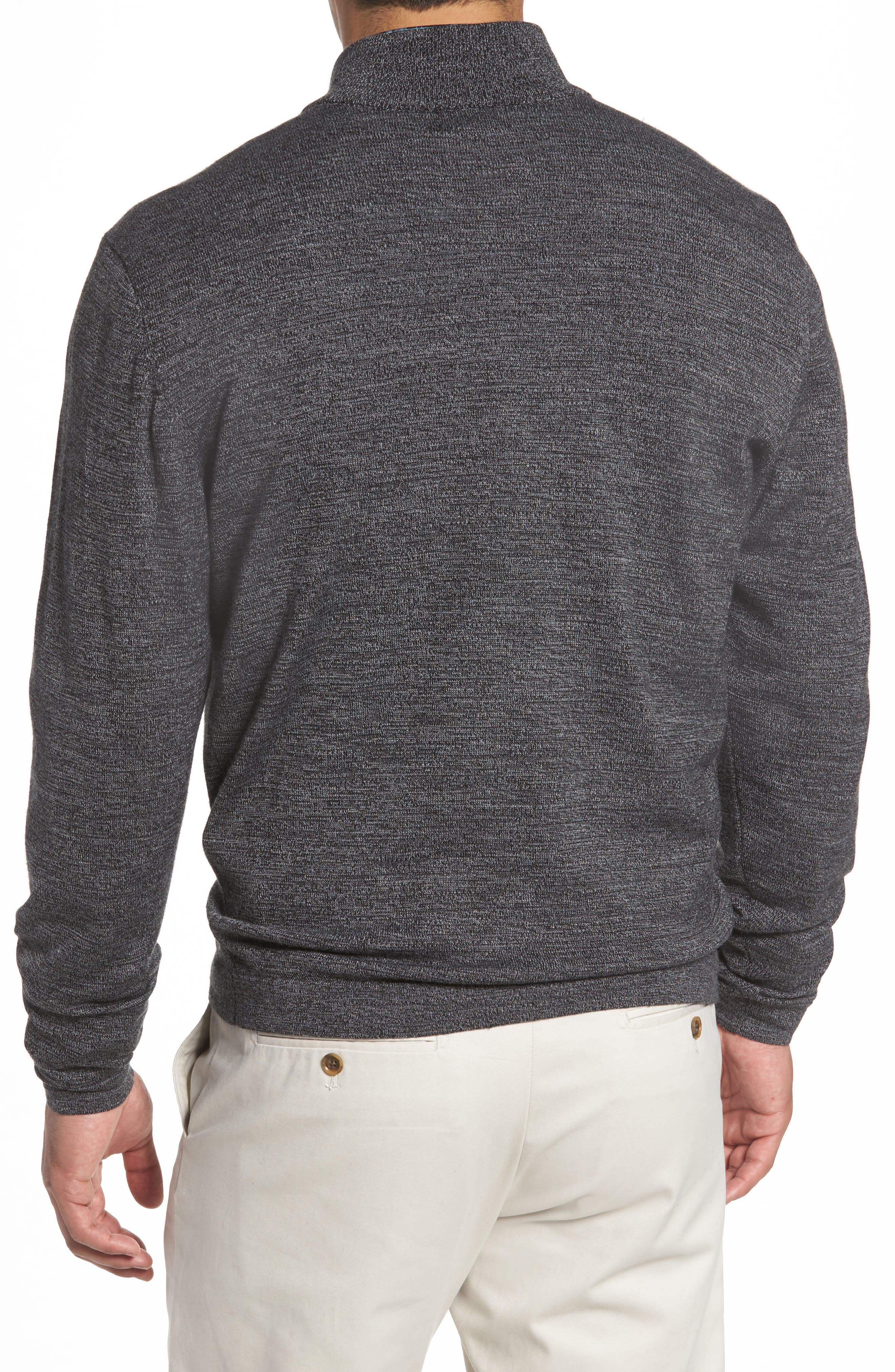 Henry Quarter-Zip Pullover Sweater,                             Alternate thumbnail 2, color,                             001