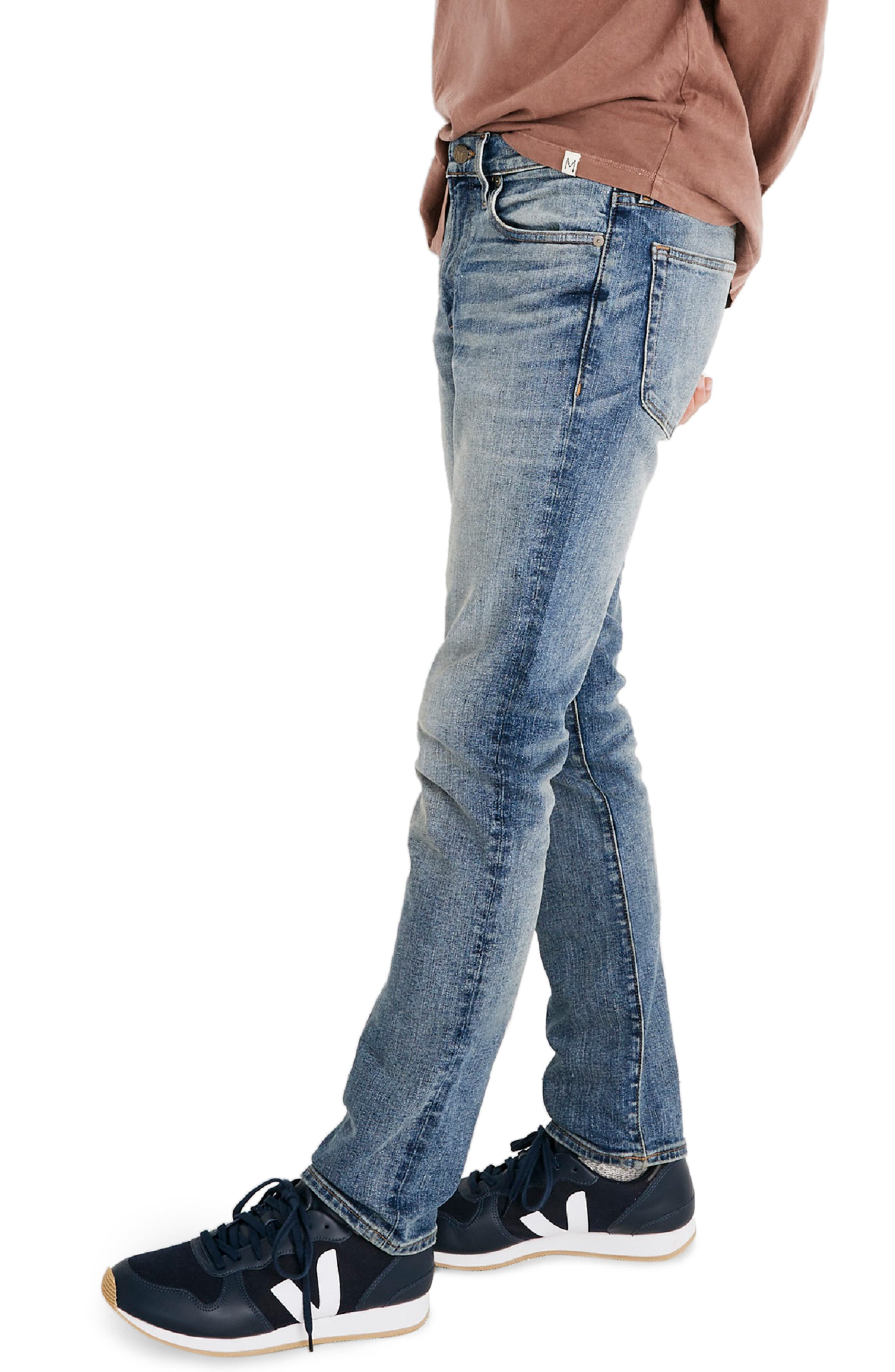Slim Fit Jeans,                             Alternate thumbnail 3, color,                             BAYWOOD WASH