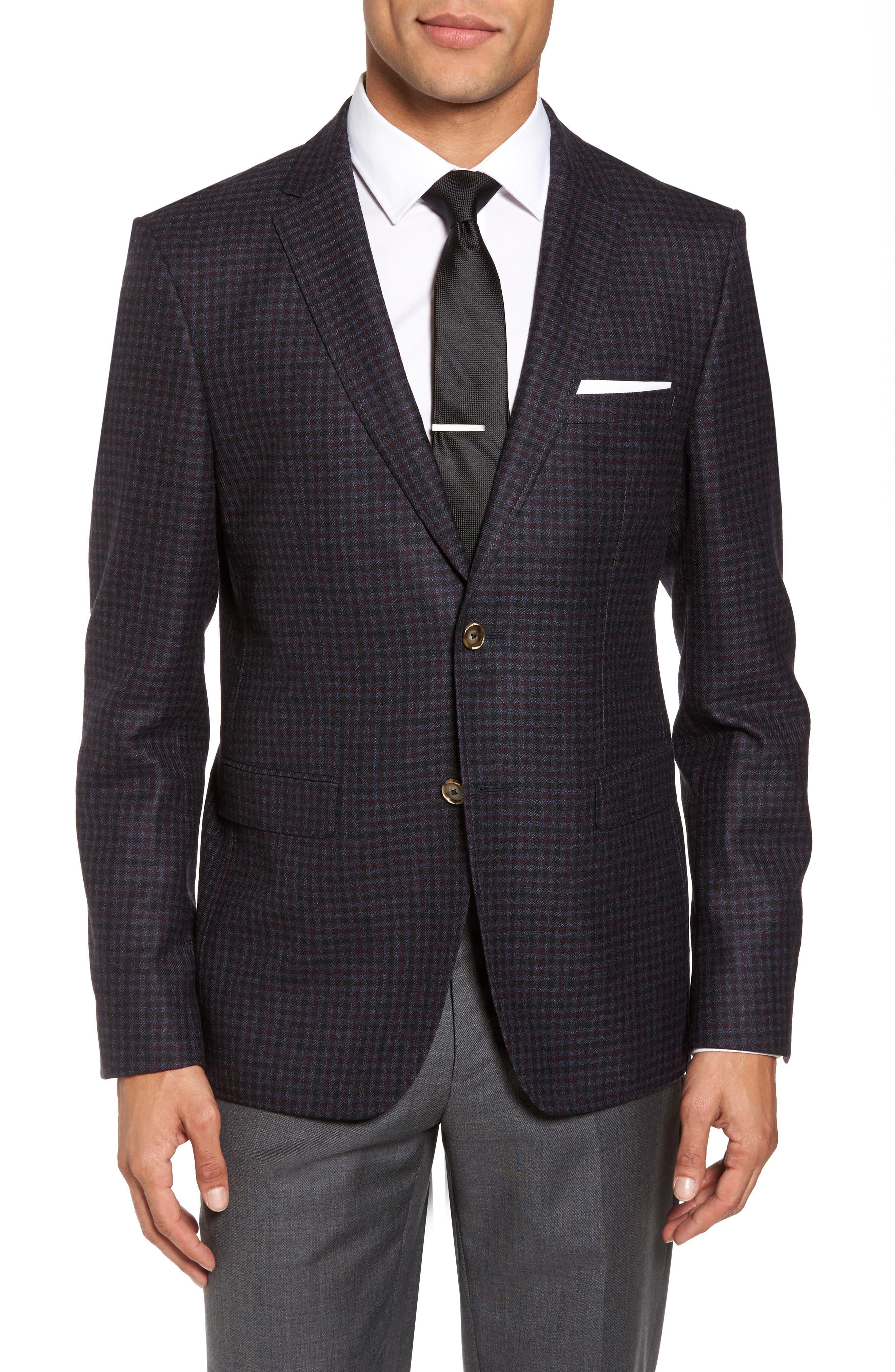Trim Fit Wool Sport Coat,                         Main,                         color, 050