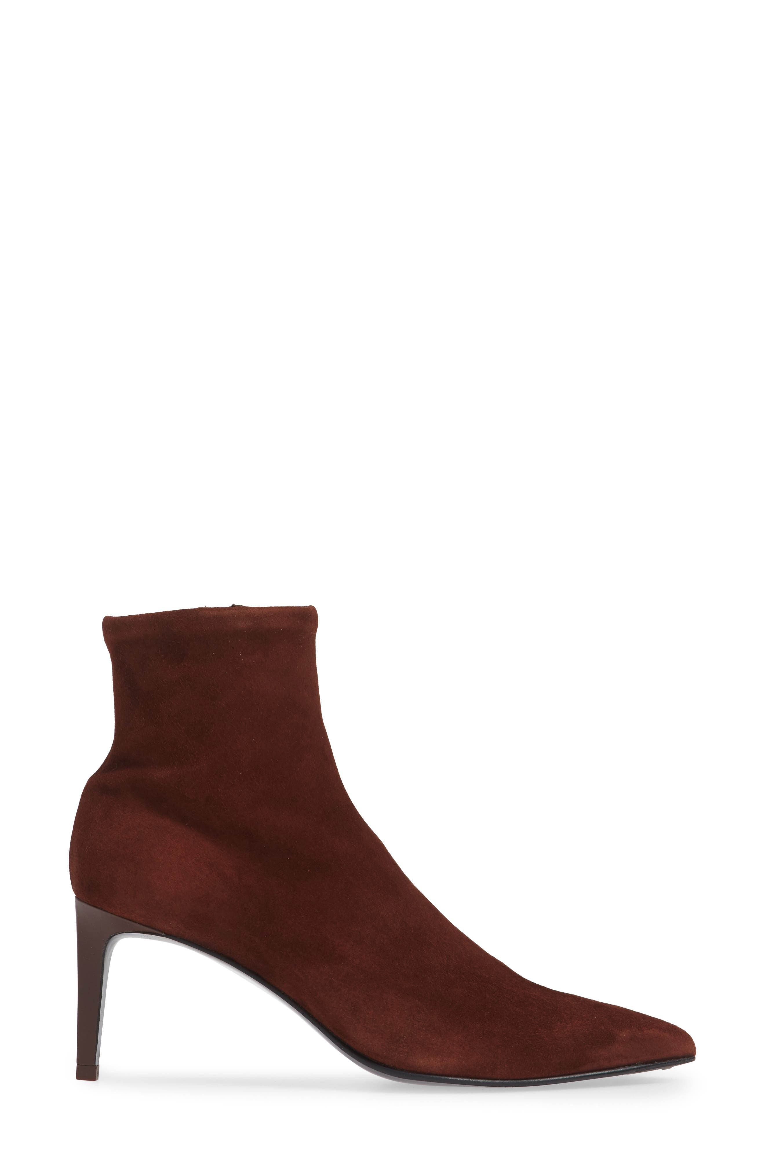 Beha Stretch Bootie,                             Alternate thumbnail 3, color,                             MAHOGANY SUEDE