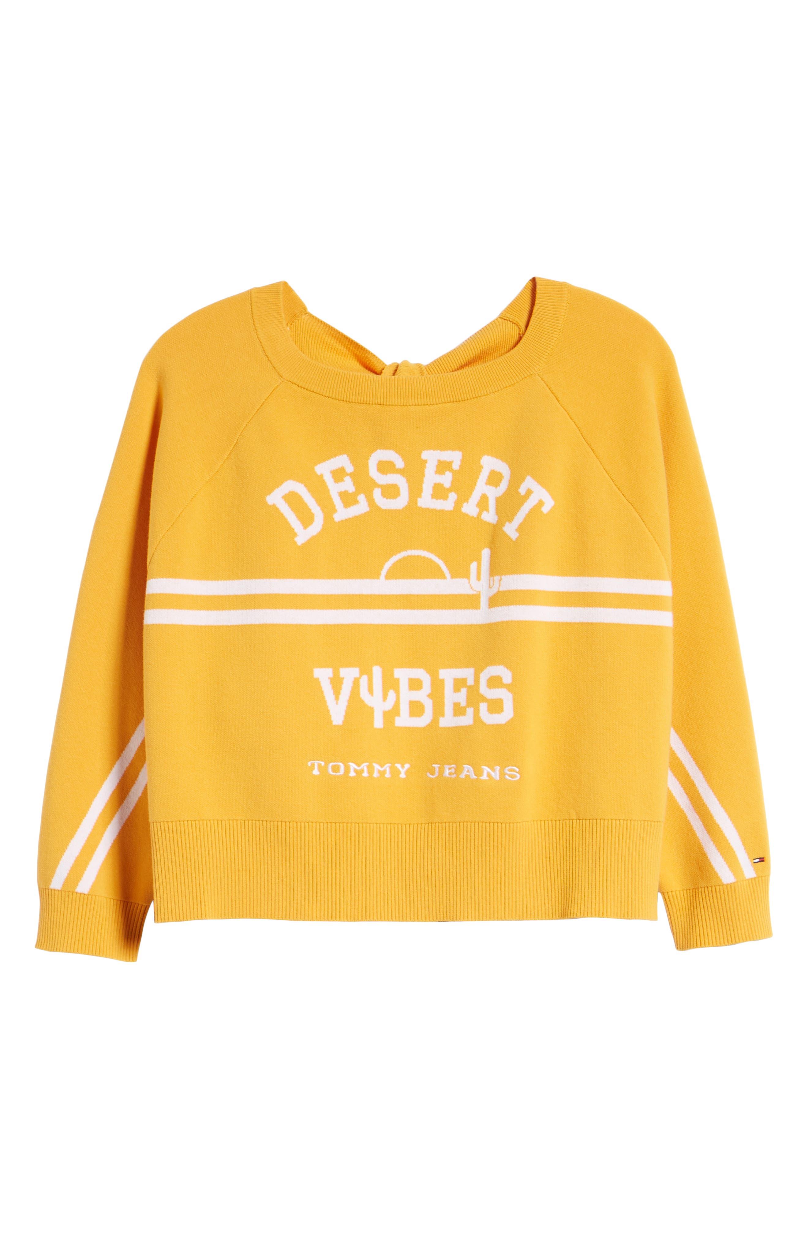 TJW Desert Vibes Tie Back Sweater,                             Alternate thumbnail 6, color,                             801