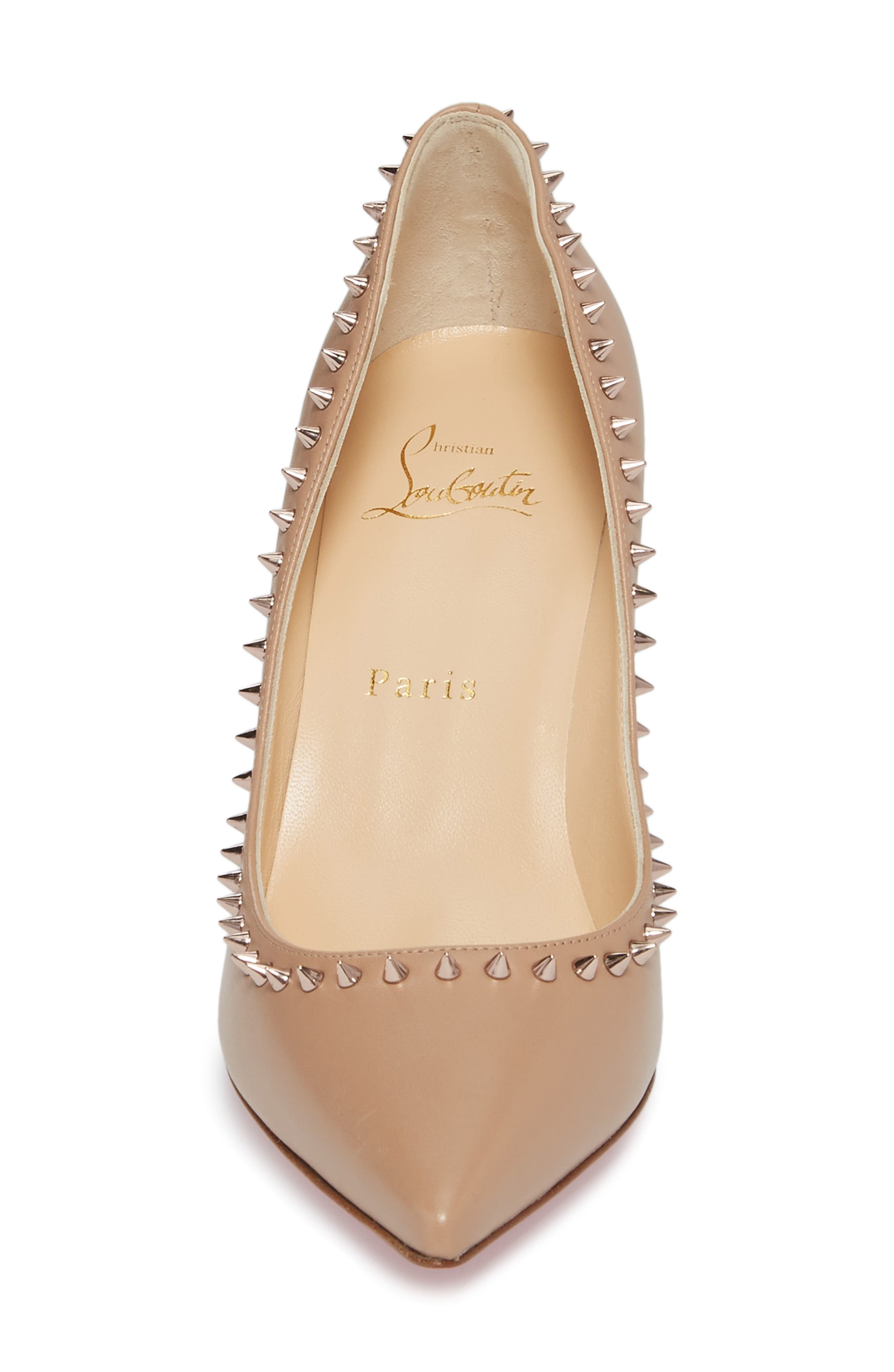 Anjalina Spiked Pointy Toe Pump,                             Alternate thumbnail 8, color,