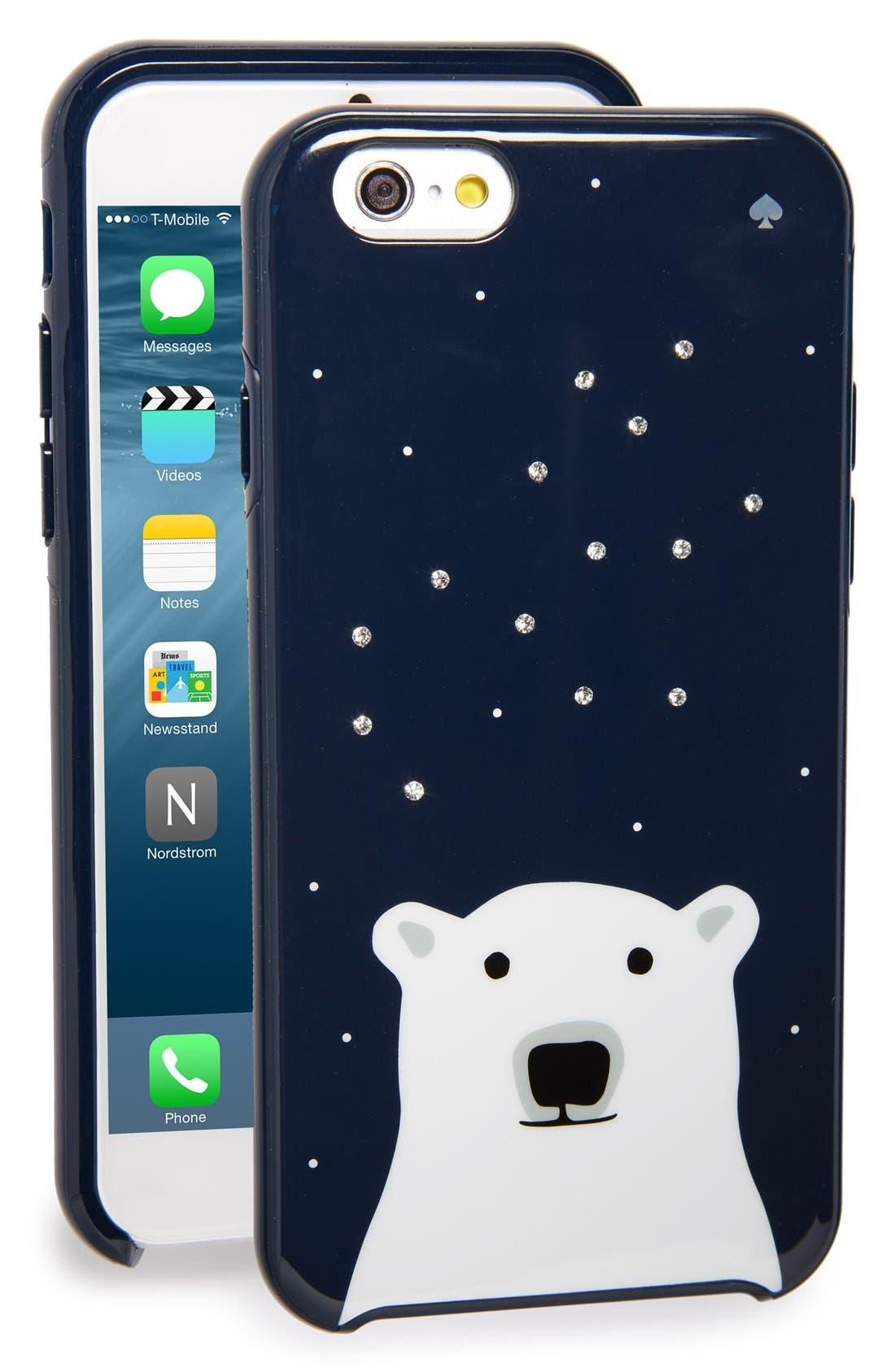 kate spade 'polar bear' iPhone 6 case, Main, color, 400