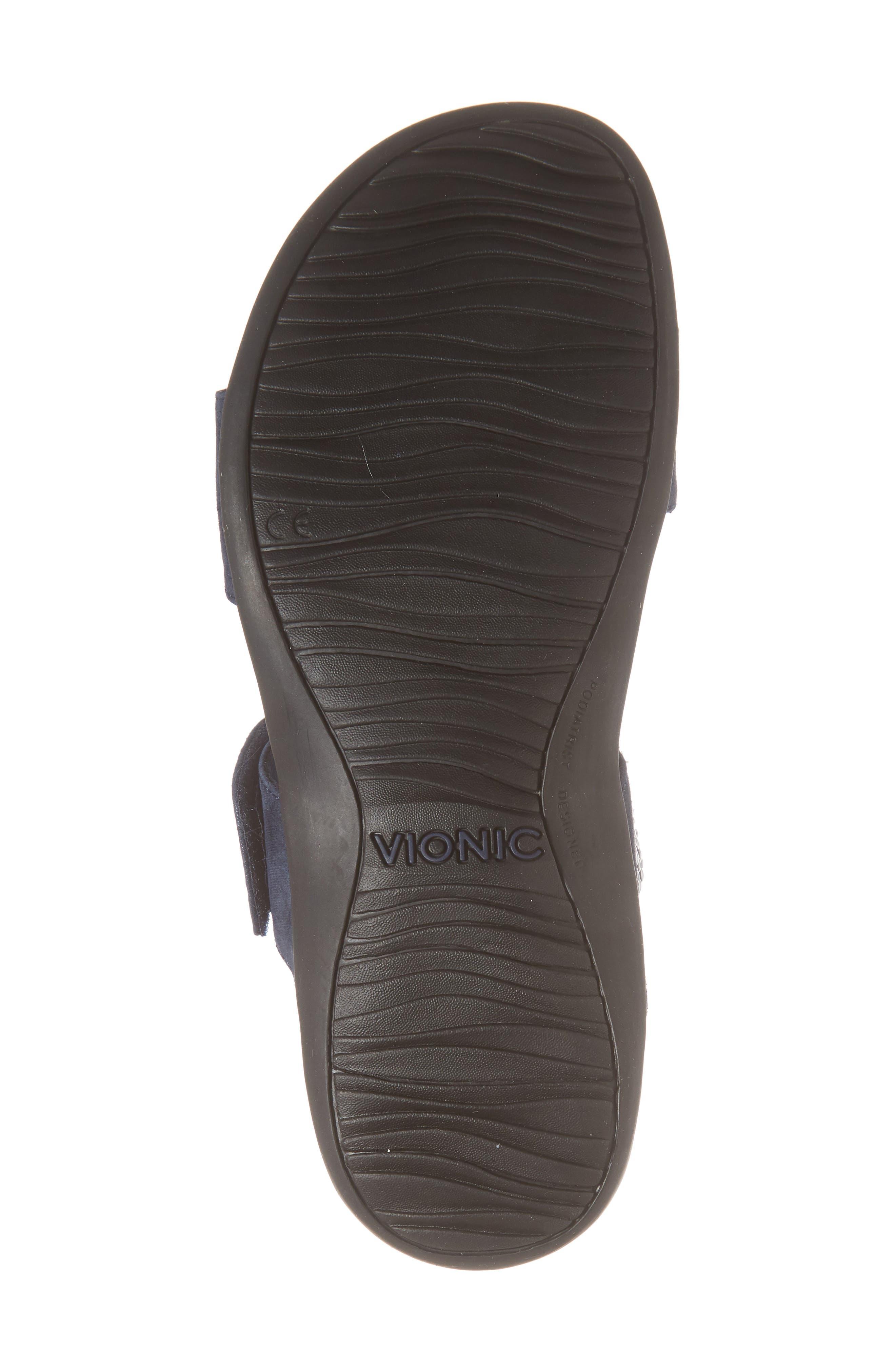 'Samoa' Sandal,                             Alternate thumbnail 6, color,                             NAVY SUEDE