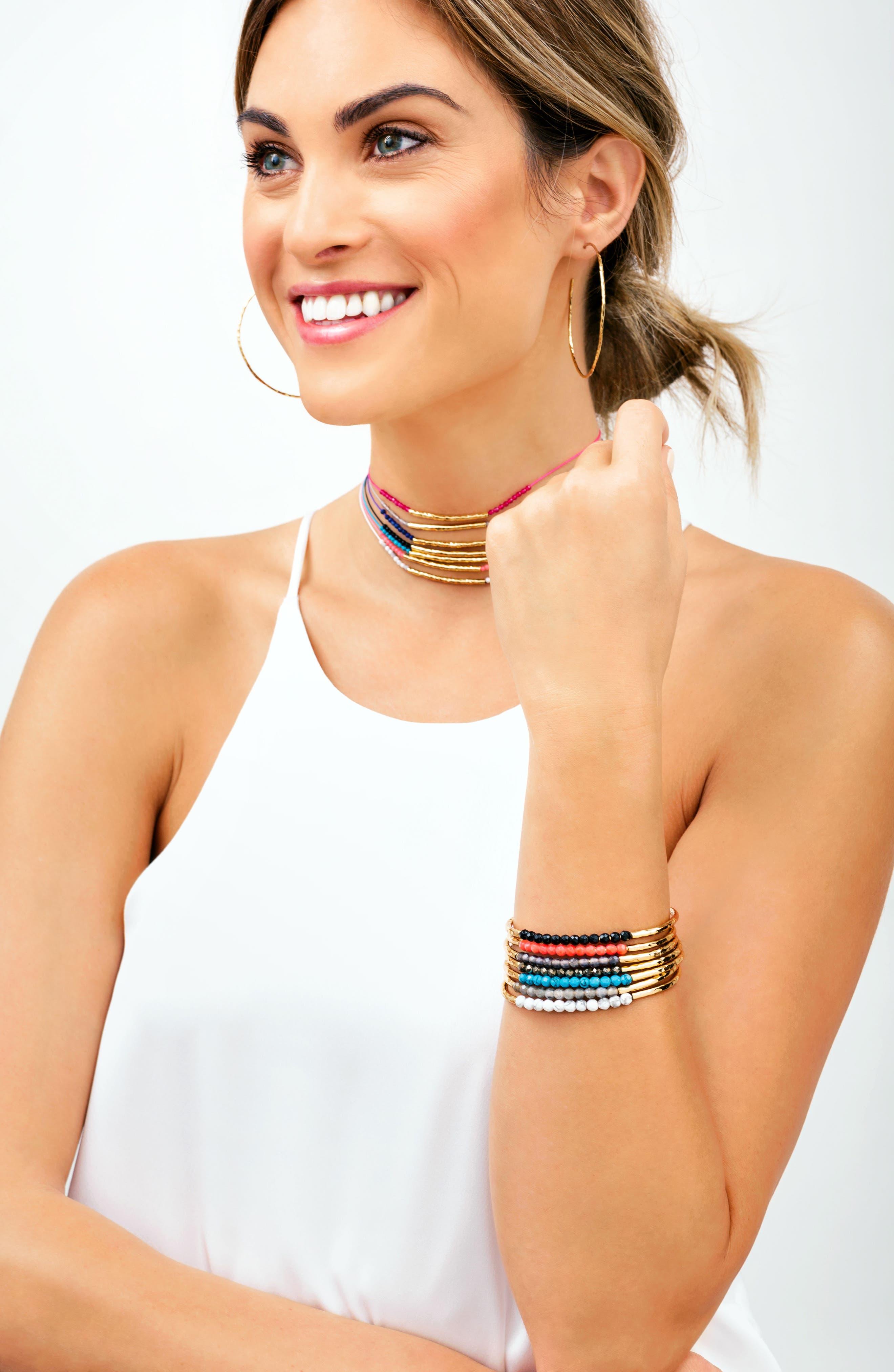 Power Stone Semiprecious Beaded Bracelet,                             Alternate thumbnail 15, color,