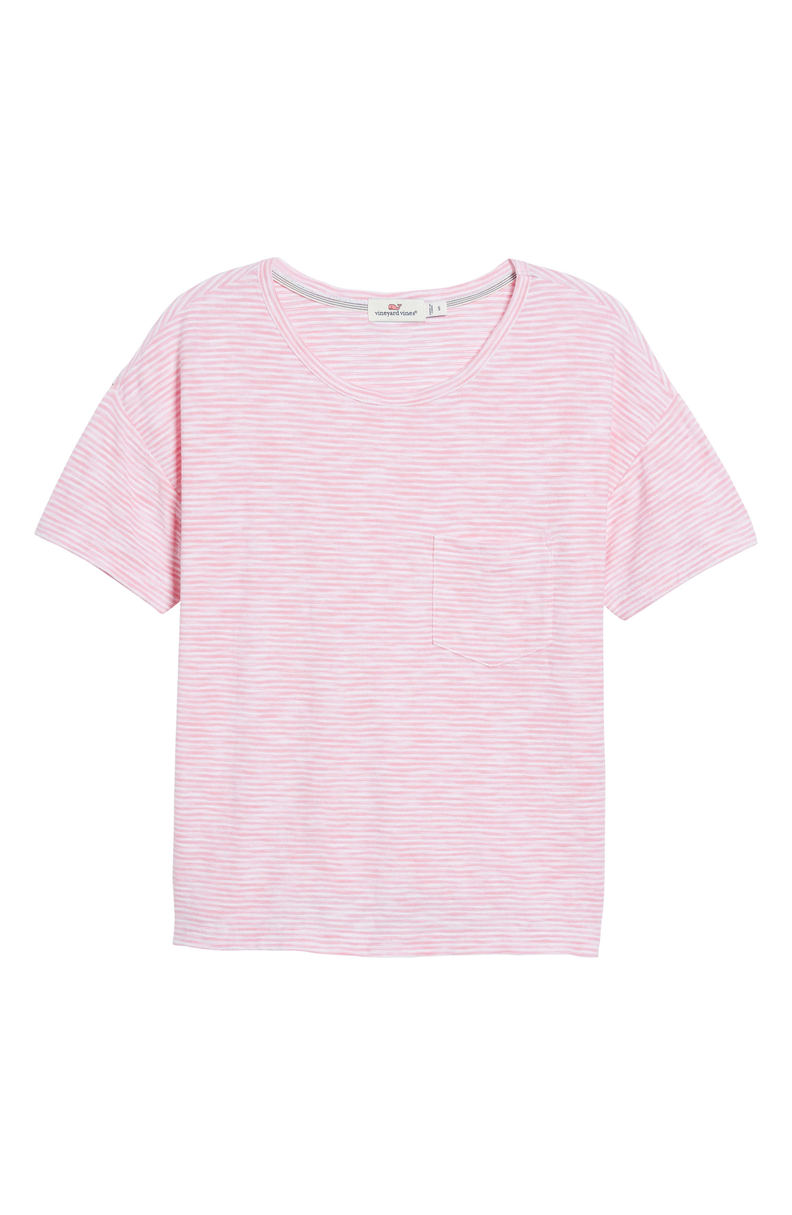 Striped Boxy Tee,                             Alternate thumbnail 6, color,                             654