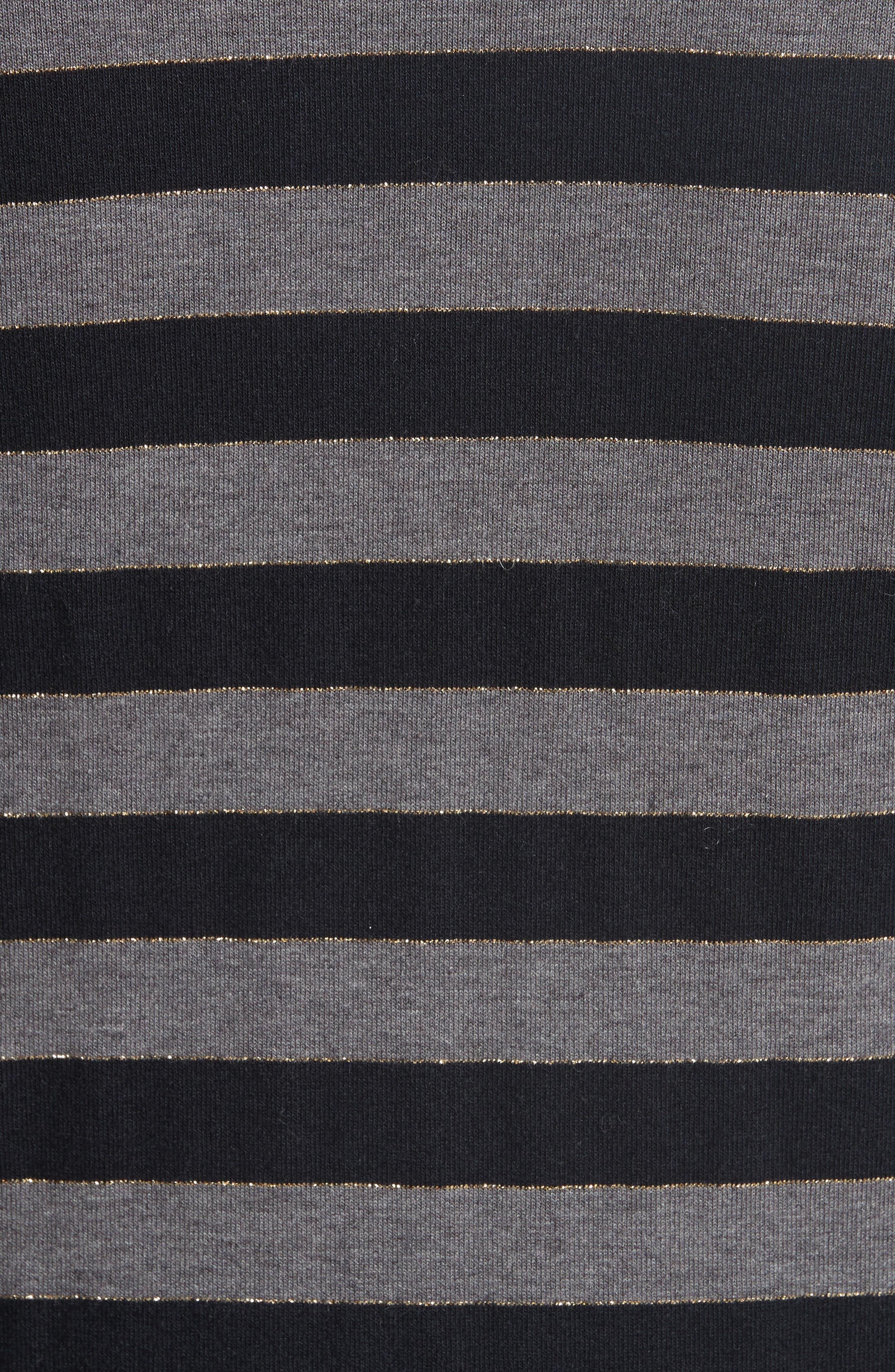 Stripe Jersey Fit & Flare Dress,                             Alternate thumbnail 5, color,                             060