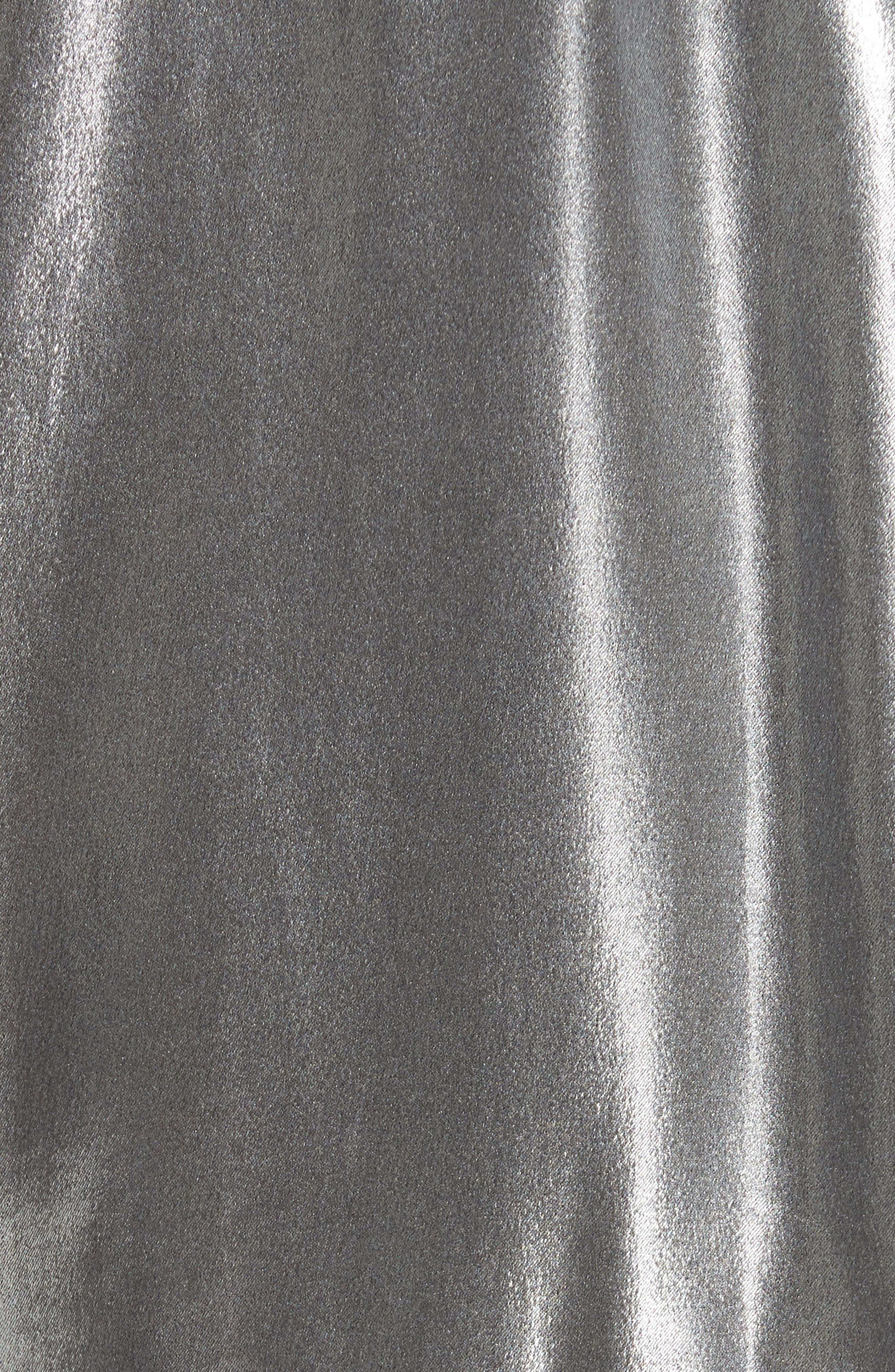 RAG & BONE,                             Sloane Metallic Track Jacket,                             Alternate thumbnail 7, color,                             SILVER/ BLACK