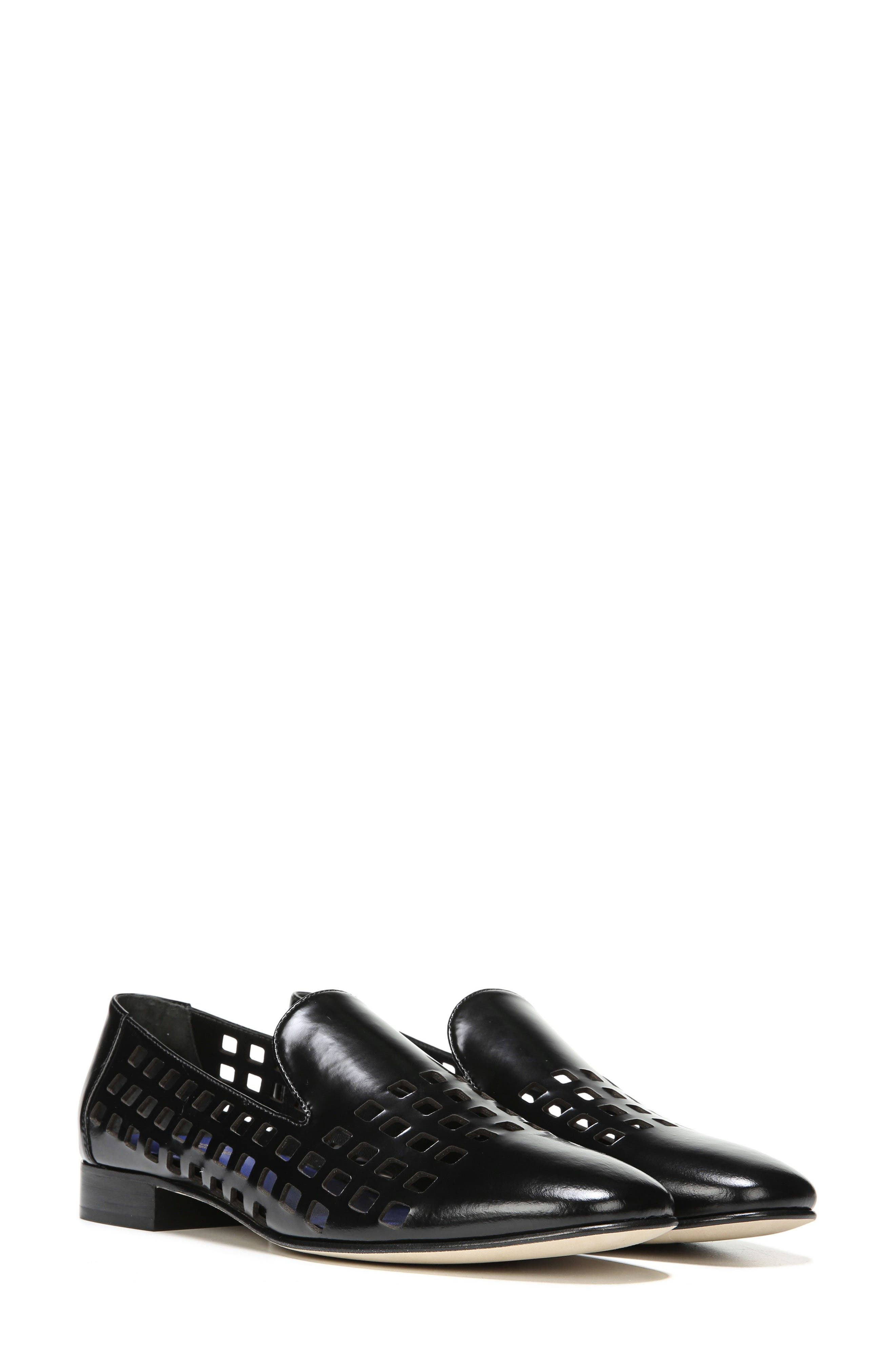 Linz Perforated Loafer,                             Alternate thumbnail 7, color,                             001