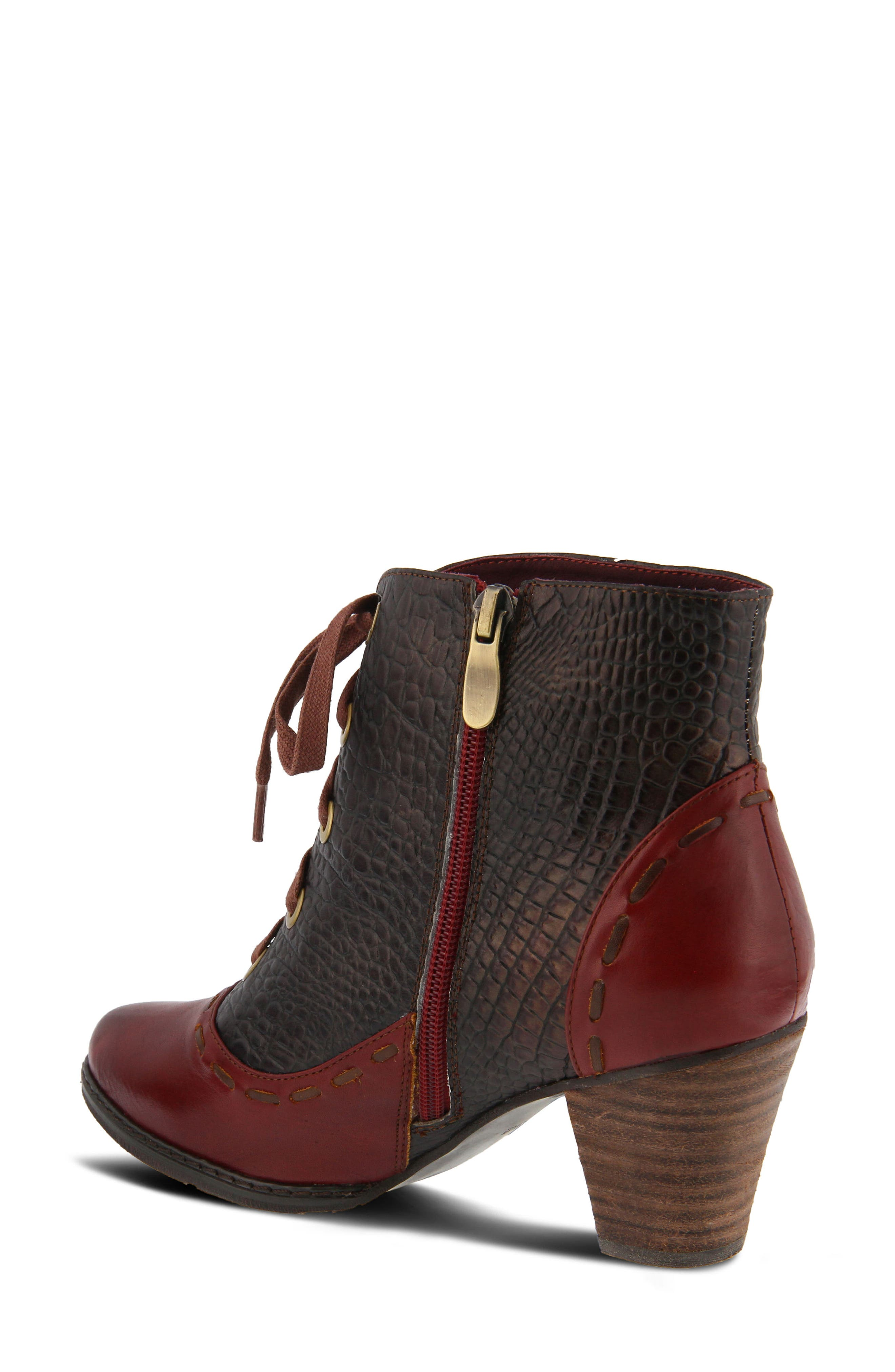 L'Artiste Sufi Bootie,                             Alternate thumbnail 2, color,                             BORDEAUX LEATHER