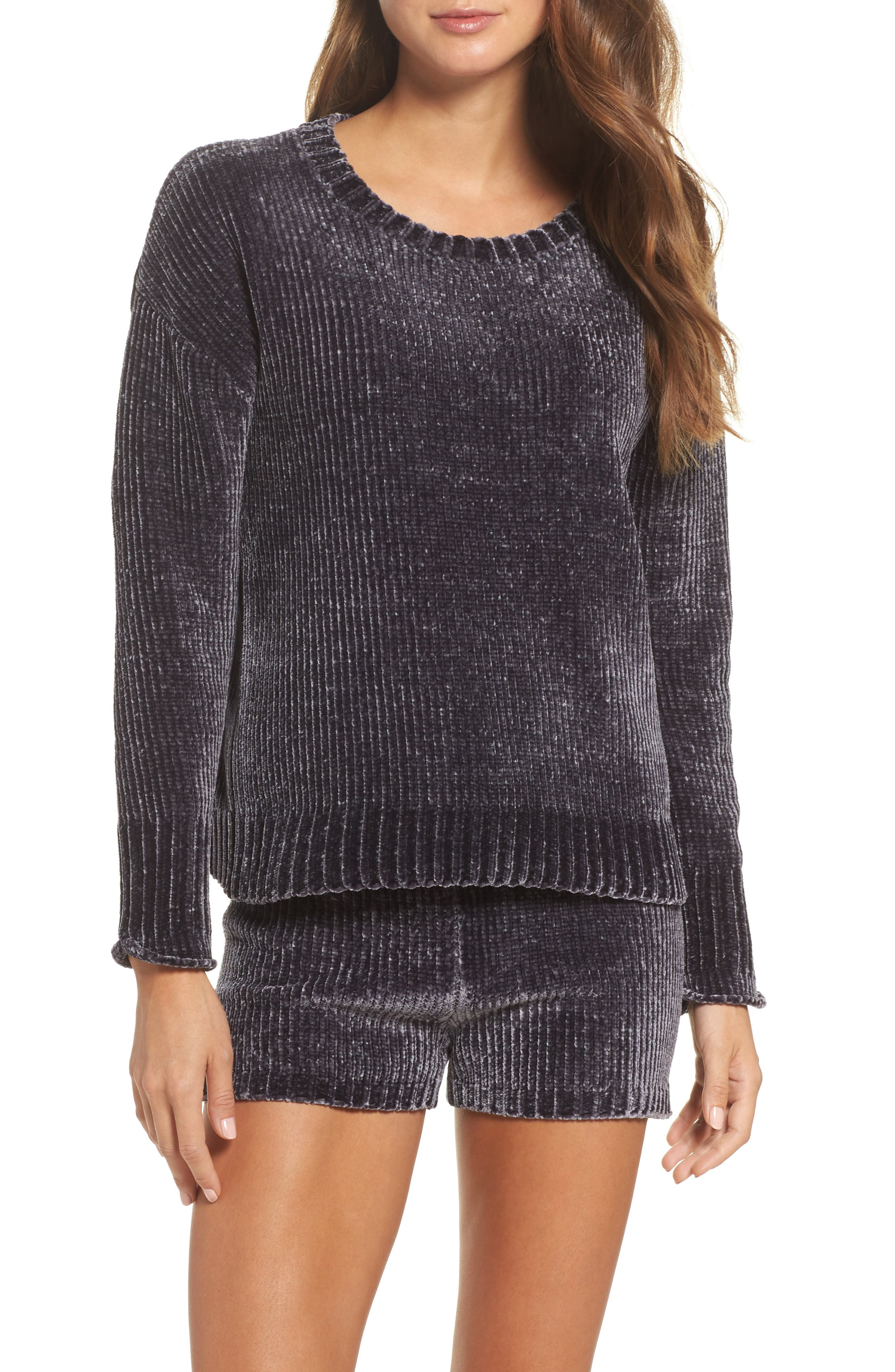 Chenille Sweater,                             Alternate thumbnail 7, color,                             030