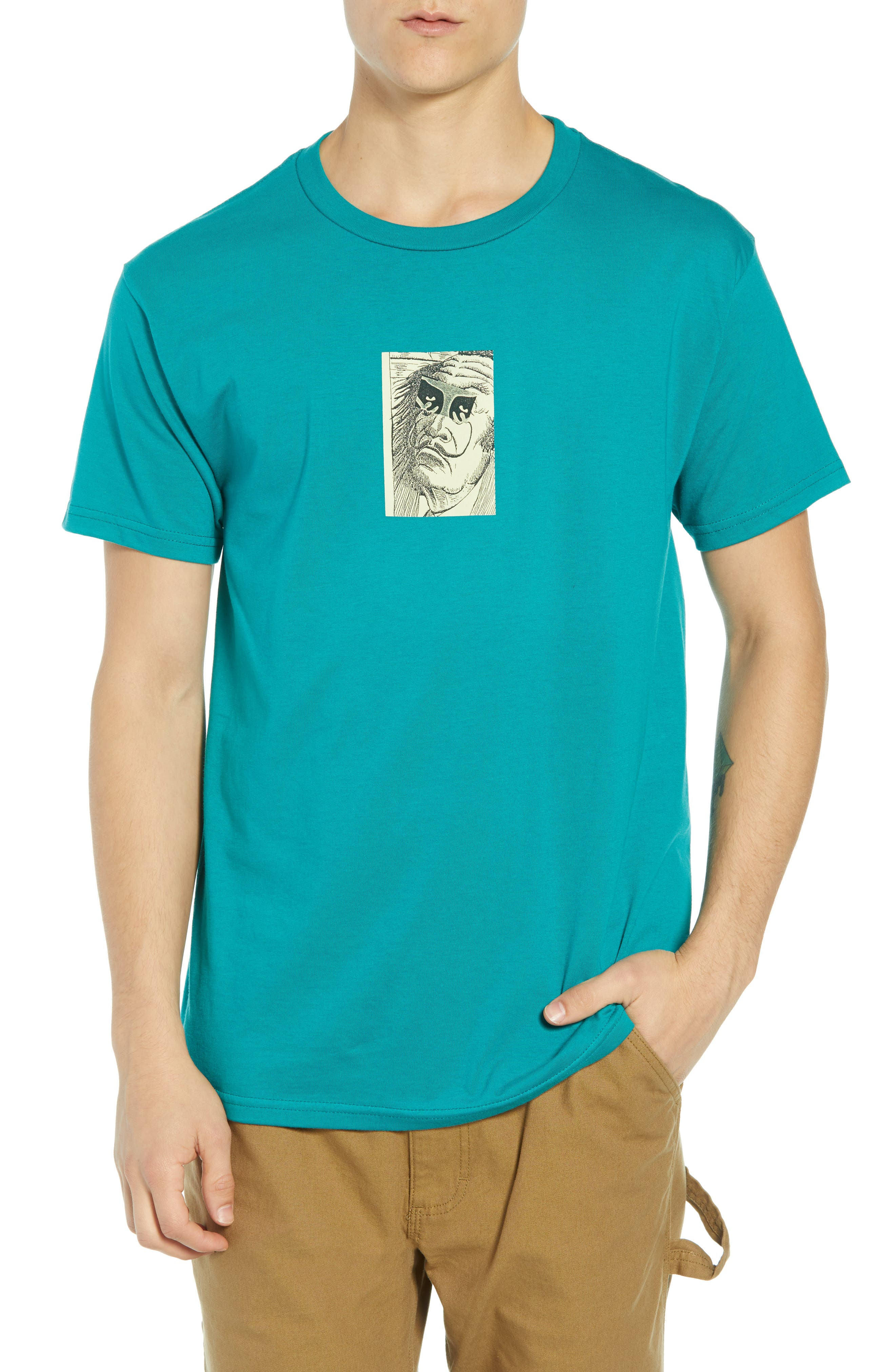 Obey Metamorphosis Premium T-Shirt, Blue/green