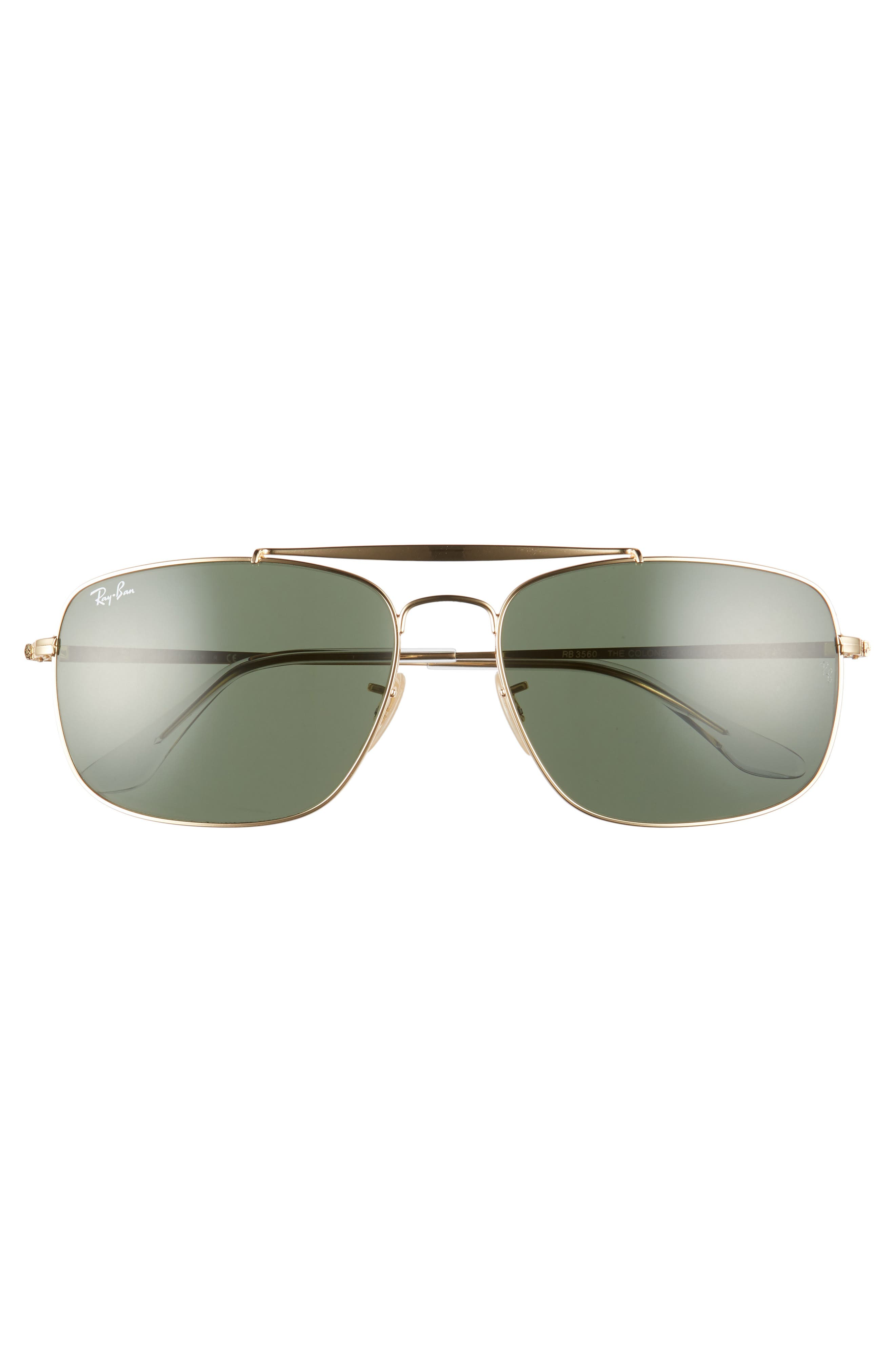 The Colonel Square 61mm Sunglasses,                             Alternate thumbnail 2, color,                             GOLD