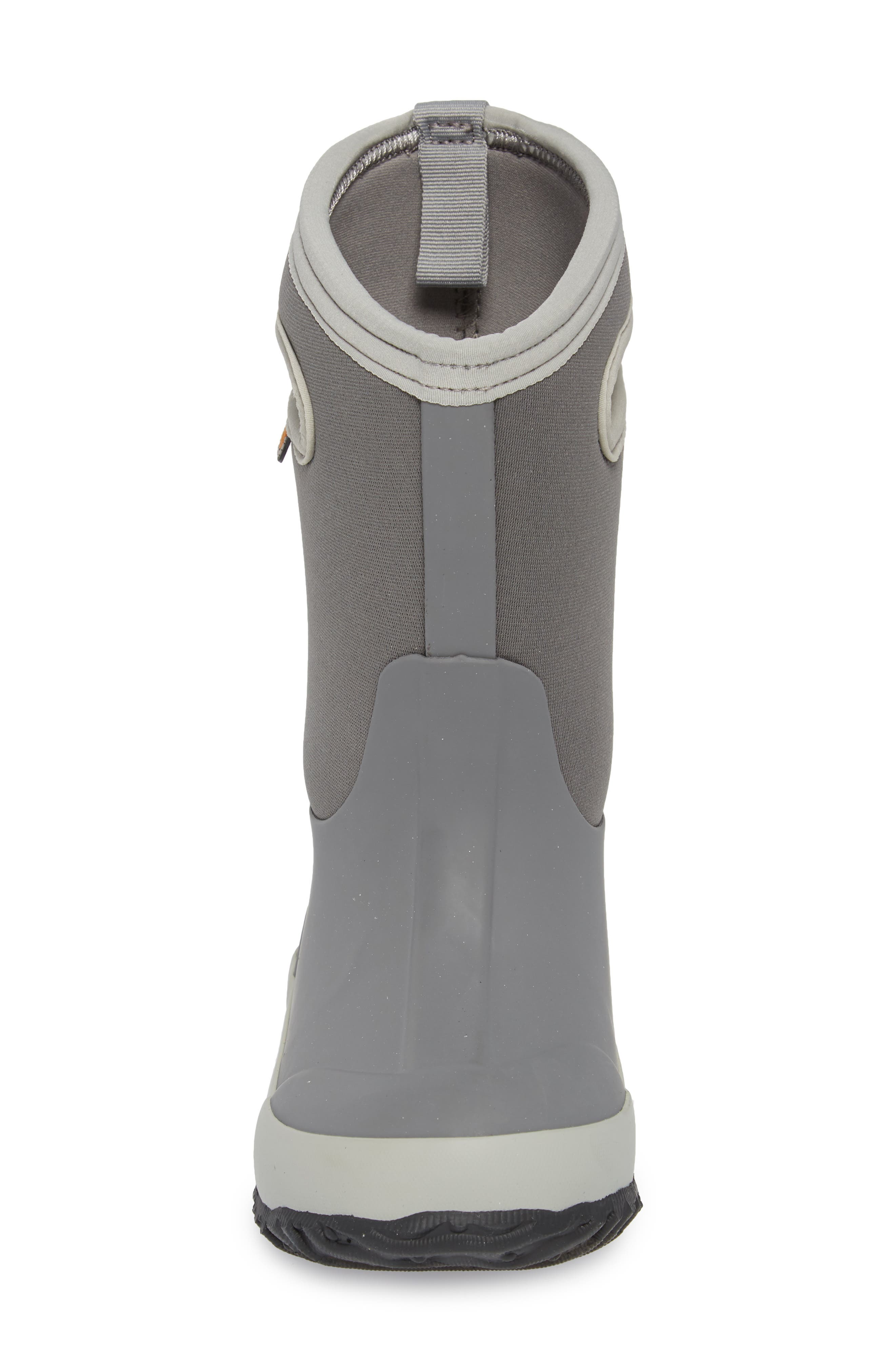 Classic Solid Insulated Boot,                             Alternate thumbnail 4, color,                             LIGHT GRAY