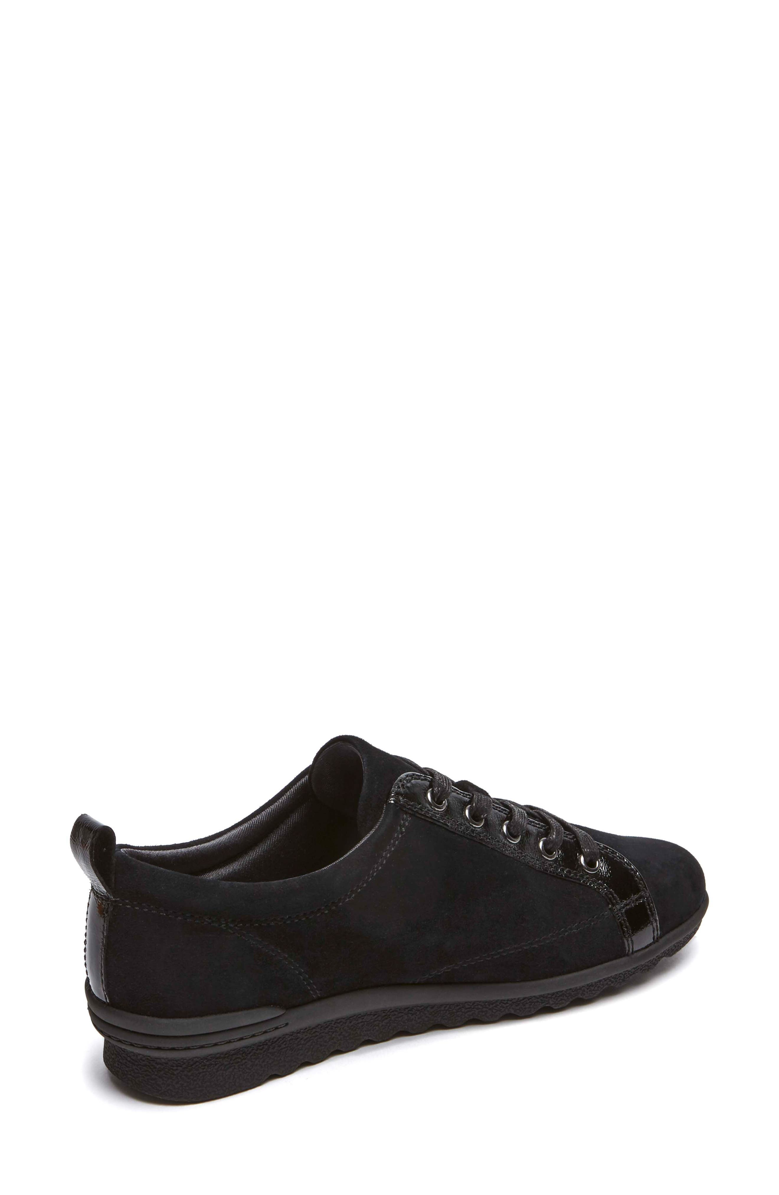 Chenole Wedge Sneaker,                             Alternate thumbnail 2, color,                             BLACK SUEDE