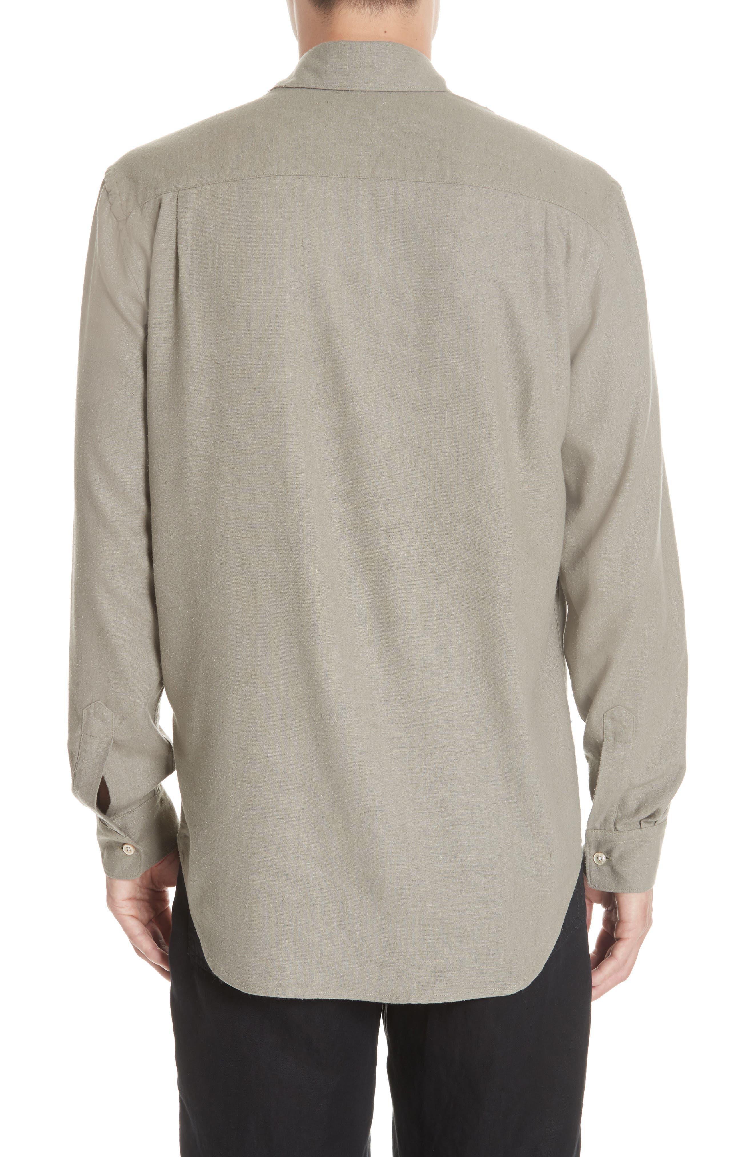 Silk Shirt,                             Alternate thumbnail 2, color,                             DRAB NOIL