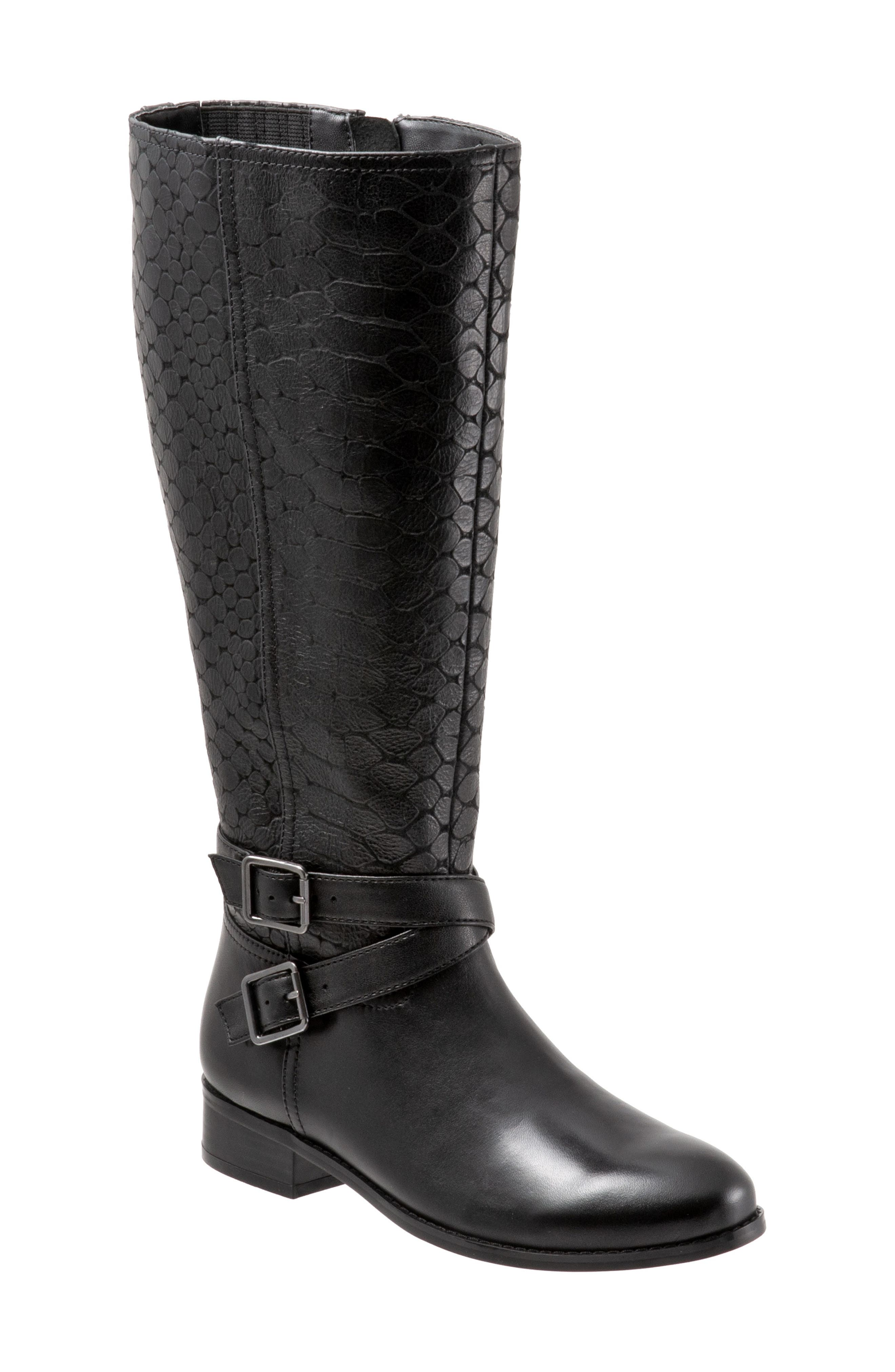 Trotters Liberty Knee High Boot, Black