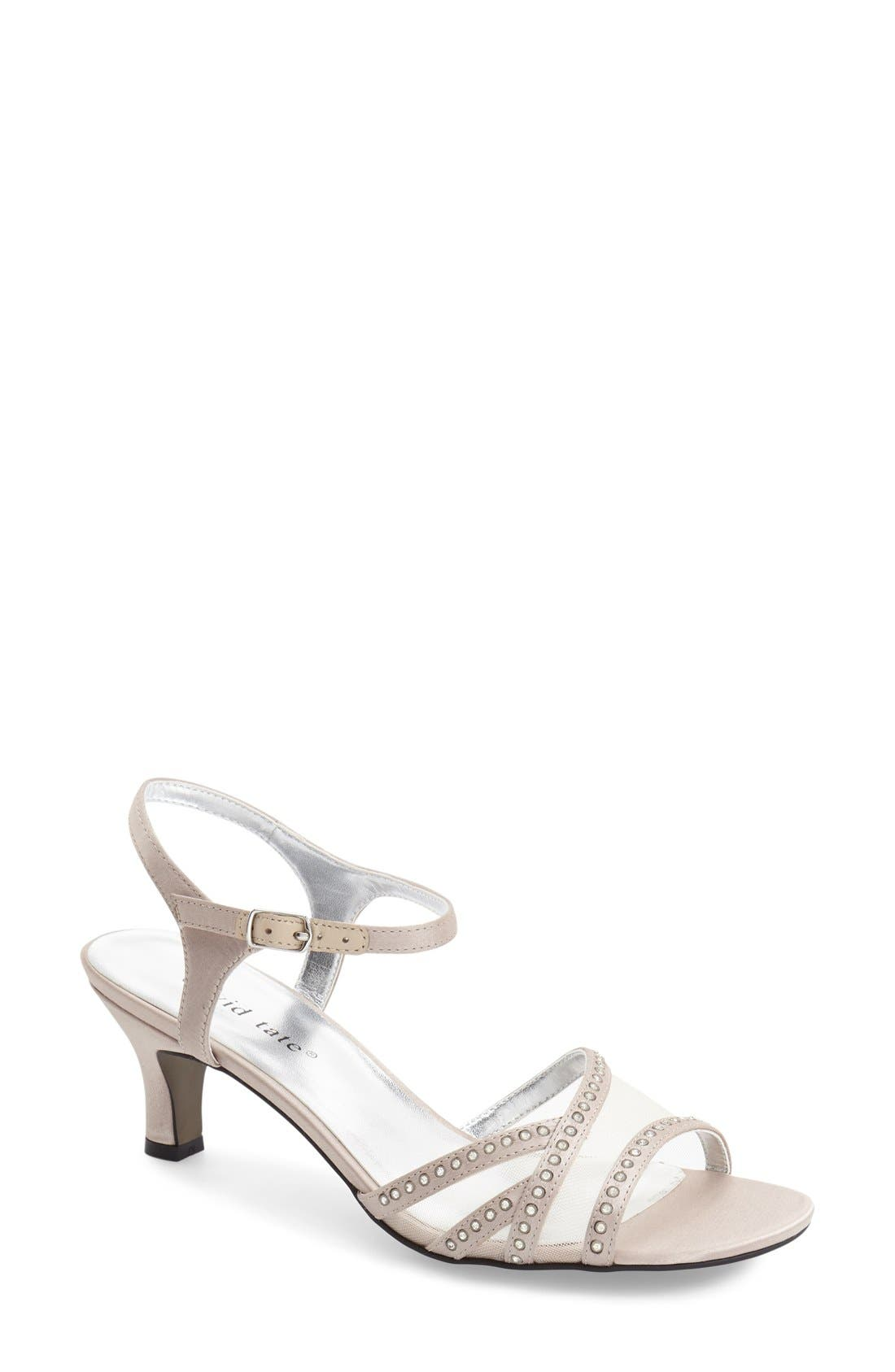 'Violet - Night Out' Sandal,                         Main,                         color, CHAMPAGNE SATIN
