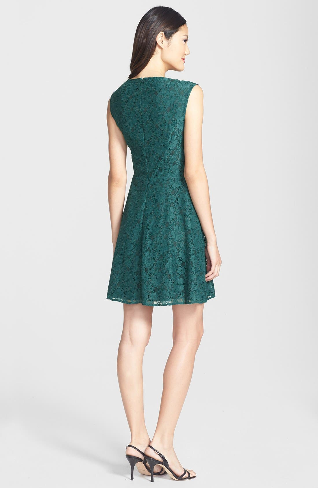 Fit & Flare Dress,                             Alternate thumbnail 4, color,                             325