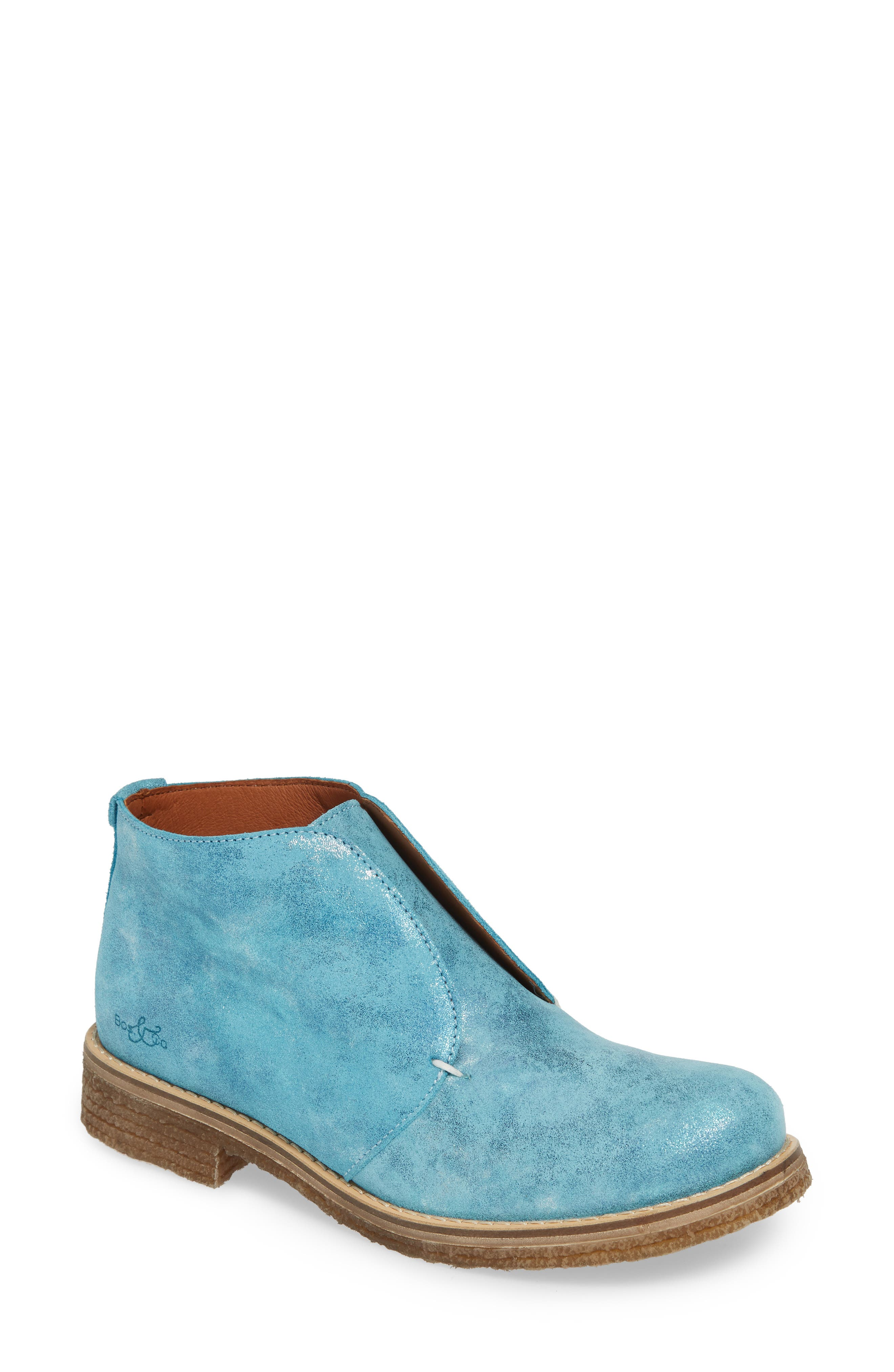 Bos. & Co. Tvol Laceless Chukka Boot, Blue