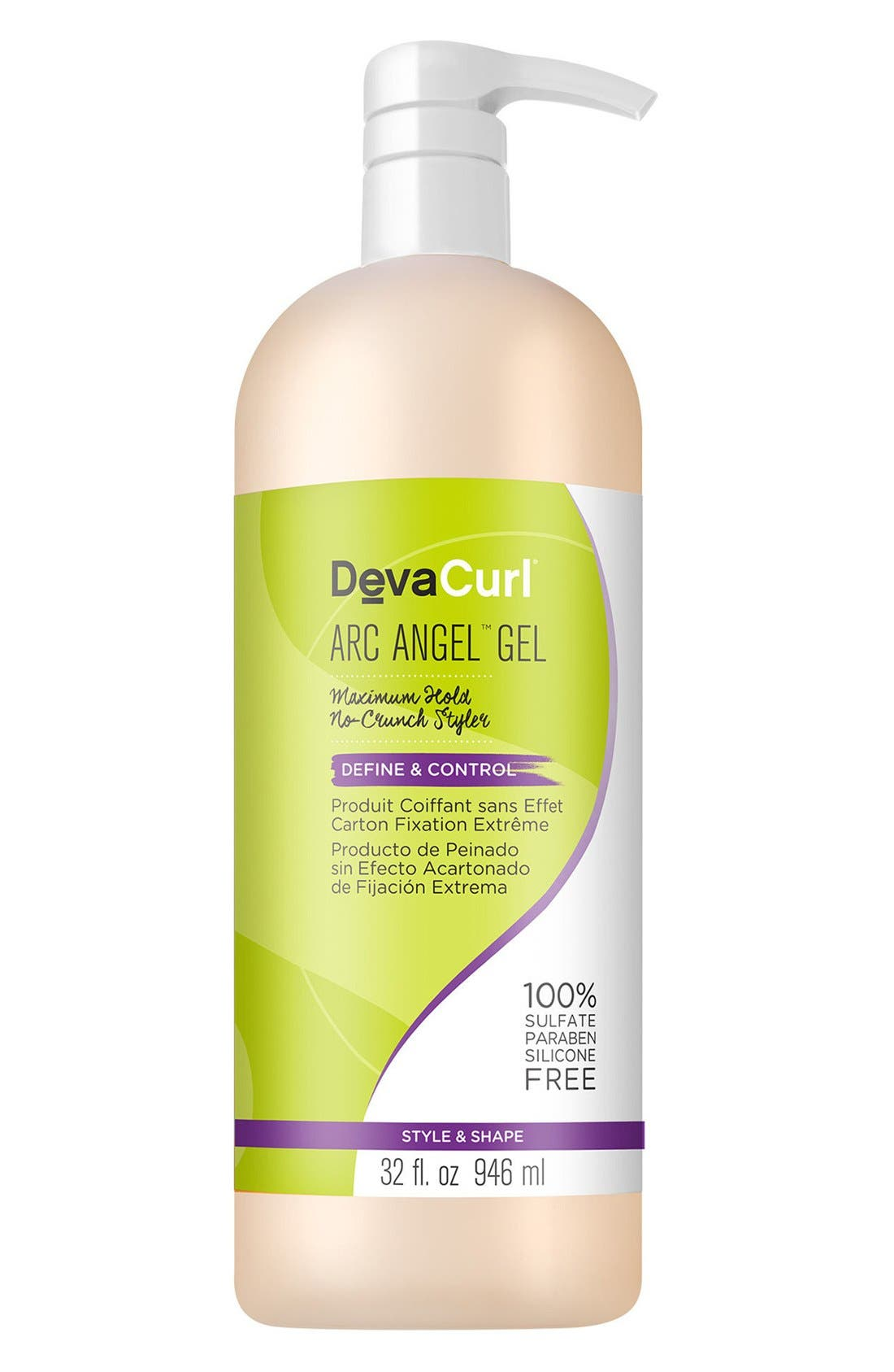 DEVACURL Arc Angel Maximum Hold No-Crunch Styler, Main, color, NO COLOR