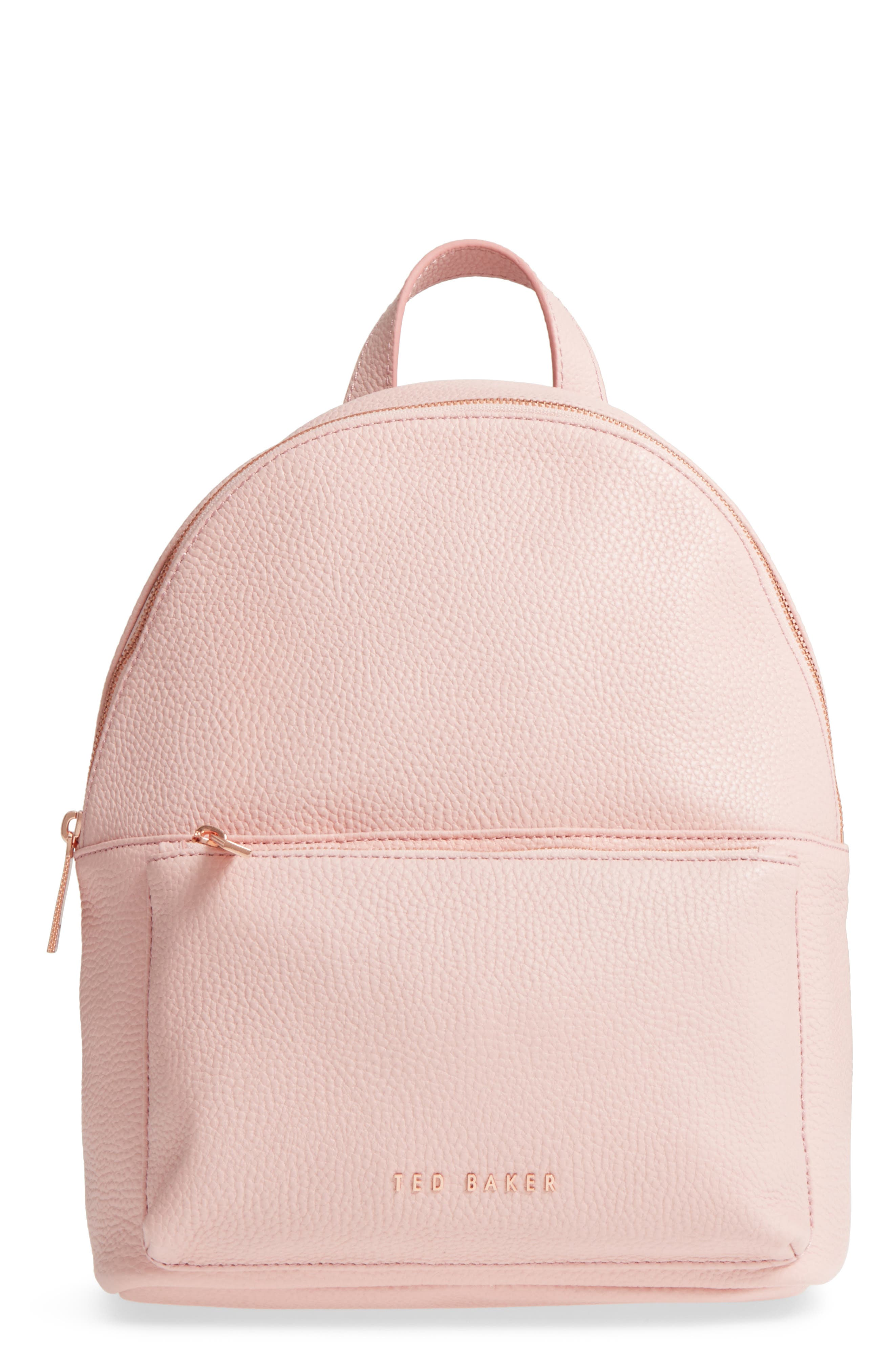 Pearen Leather Backpack,                             Main thumbnail 4, color,