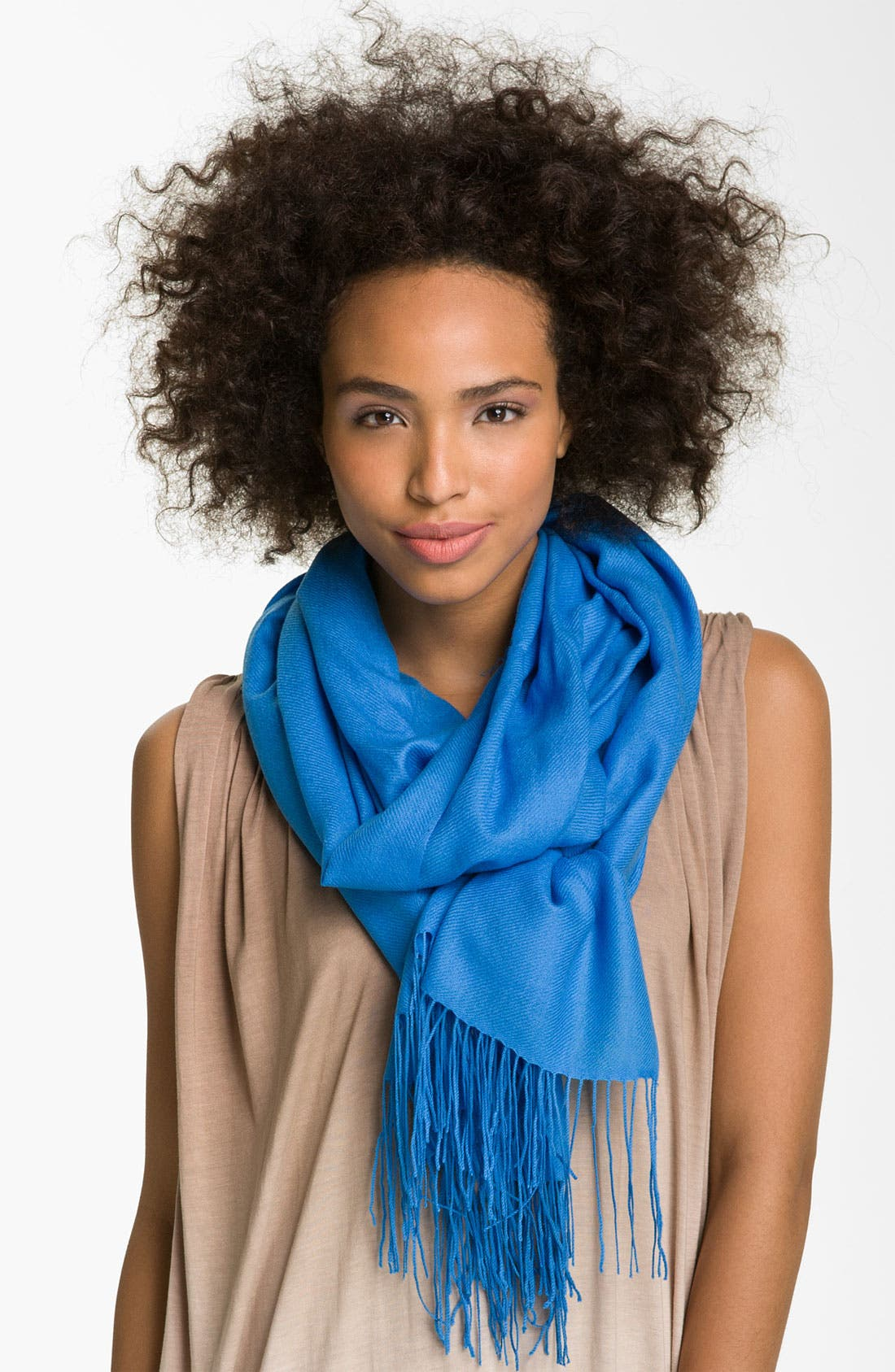 Tissue Weight Wool & Cashmere Wrap,                             Main thumbnail 81, color,