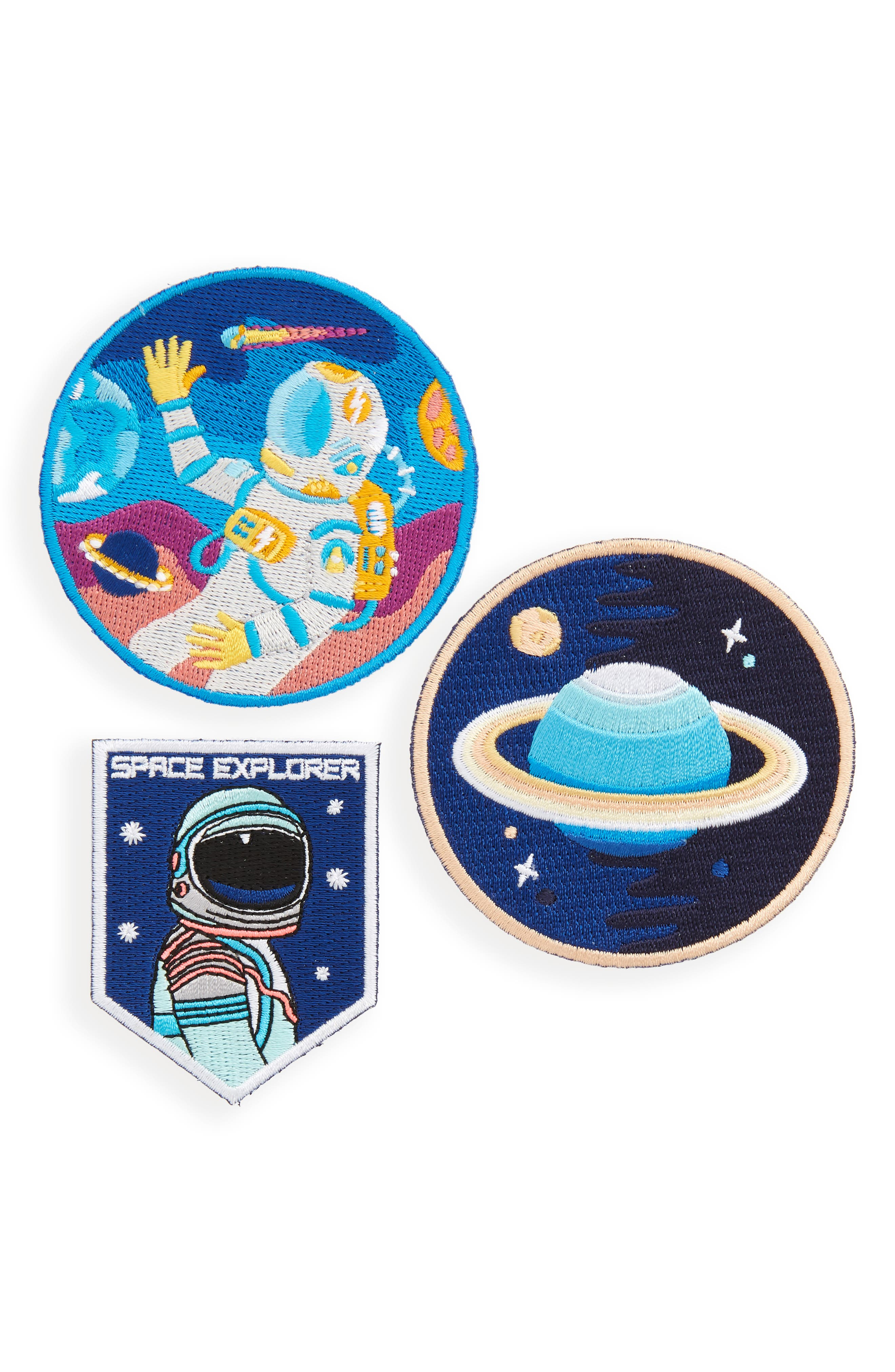Universe Pack Set of 3 Iron-On Patches,                             Main thumbnail 1, color,                             400