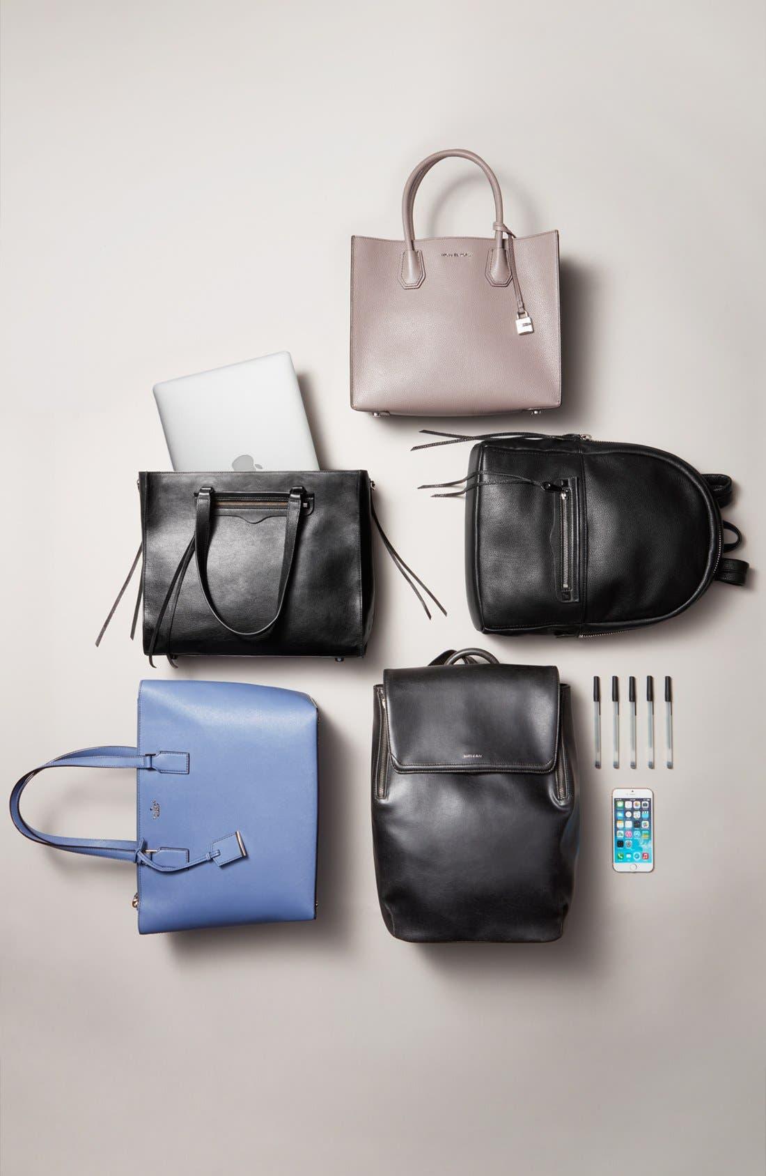 MATT & NAT,                             'Fabi' Faux Leather Laptop Backpack,                             Alternate thumbnail 7, color,                             NO_COLOR