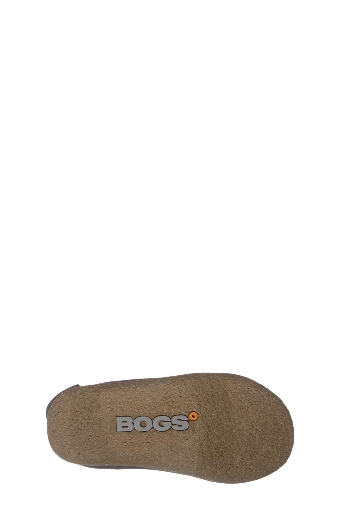 BOGS,                             Baby Bogs Insulated Waterproof Rain Boot,                             Alternate thumbnail 4, color,                             BLACK