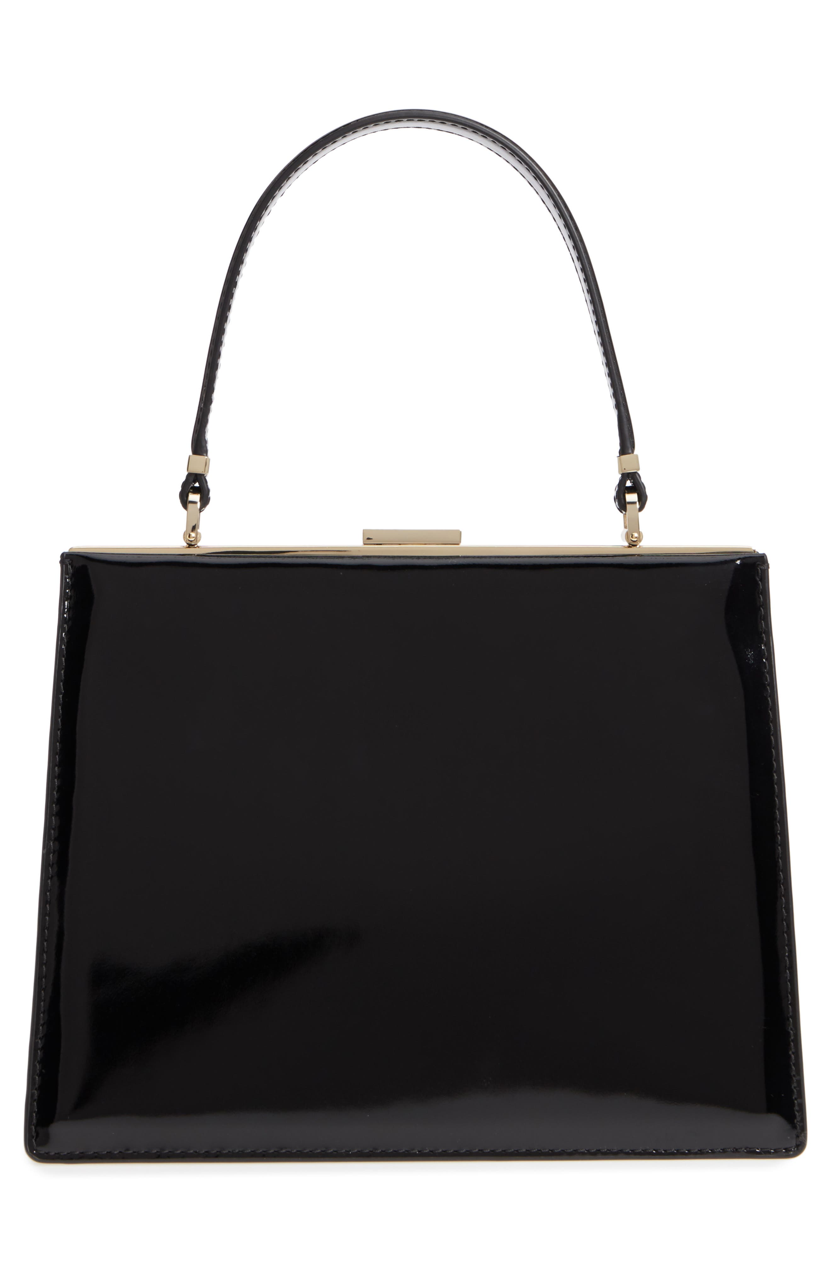 madison moore road - chari leather handbag,                             Alternate thumbnail 3, color,                             001