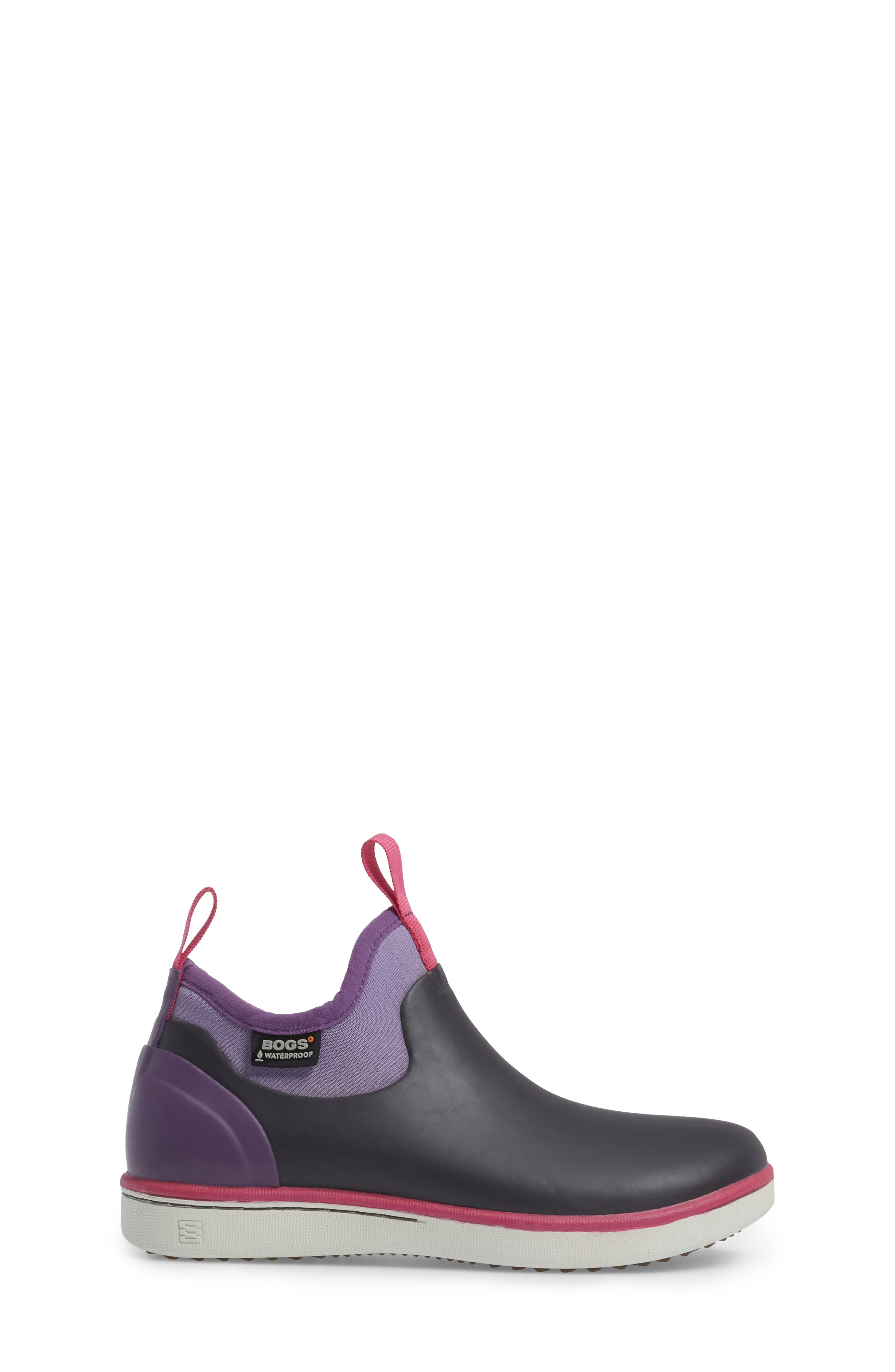 Riley Waterproof Sock Fit Boot,                             Alternate thumbnail 3, color,                             EGGPLANT MULTI