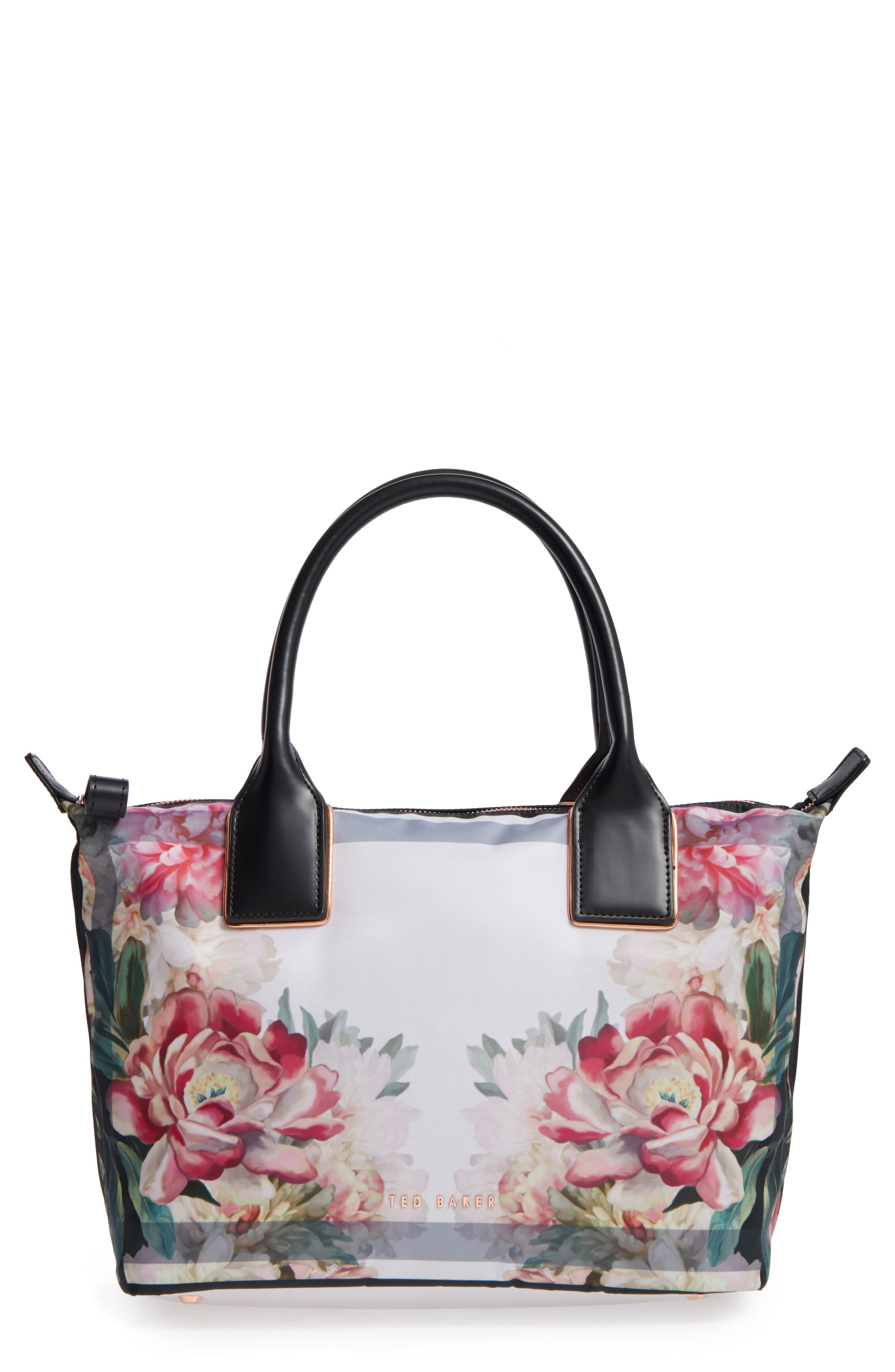 Small Painted Posie Tote,                             Main thumbnail 1, color,                             682