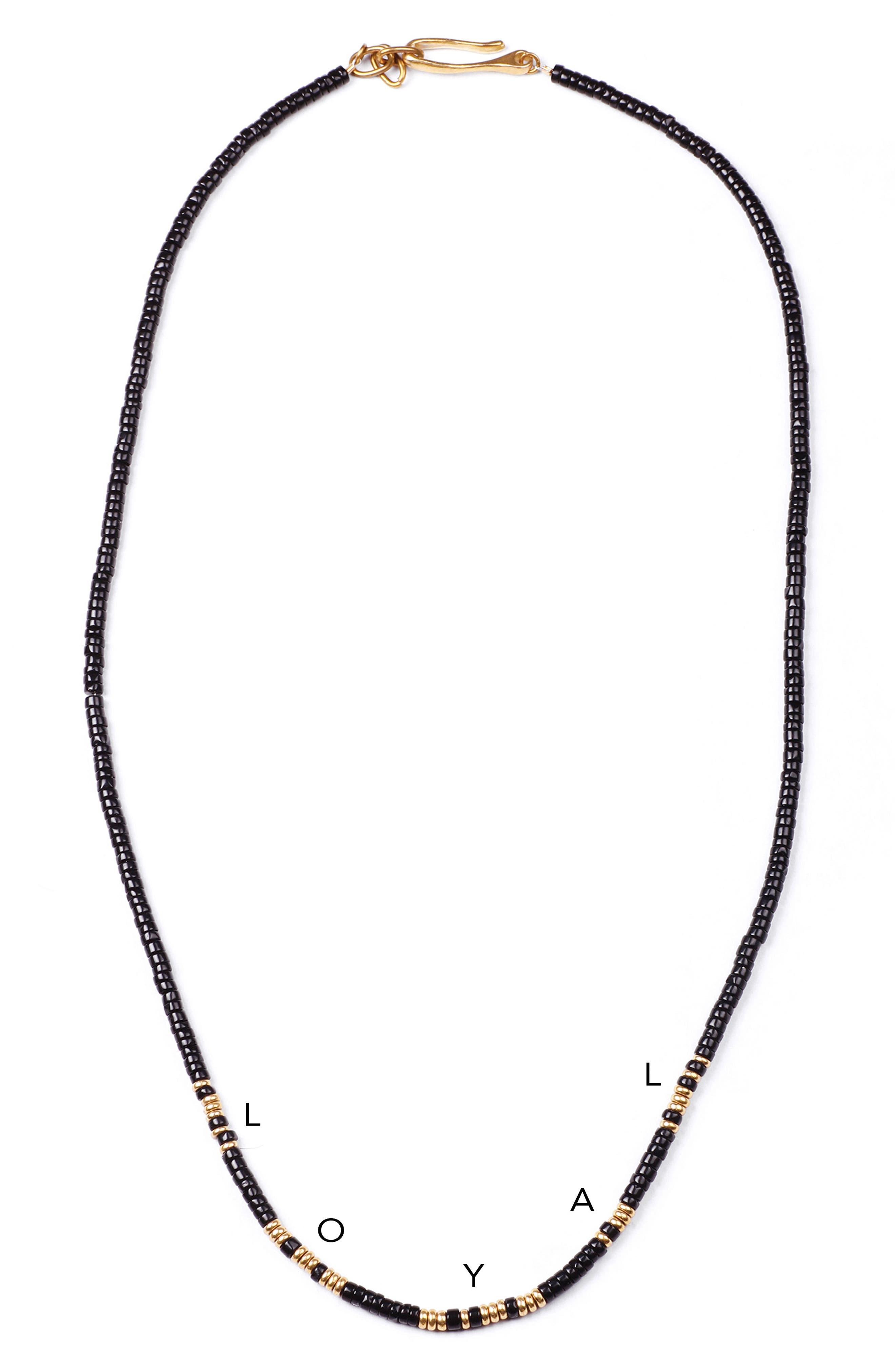 Loyal Morse Beaded Necklace,                             Alternate thumbnail 2, color,                             001